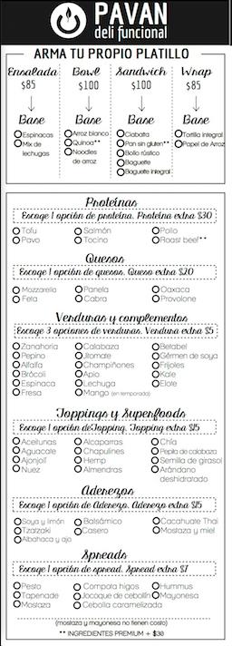 menu variable