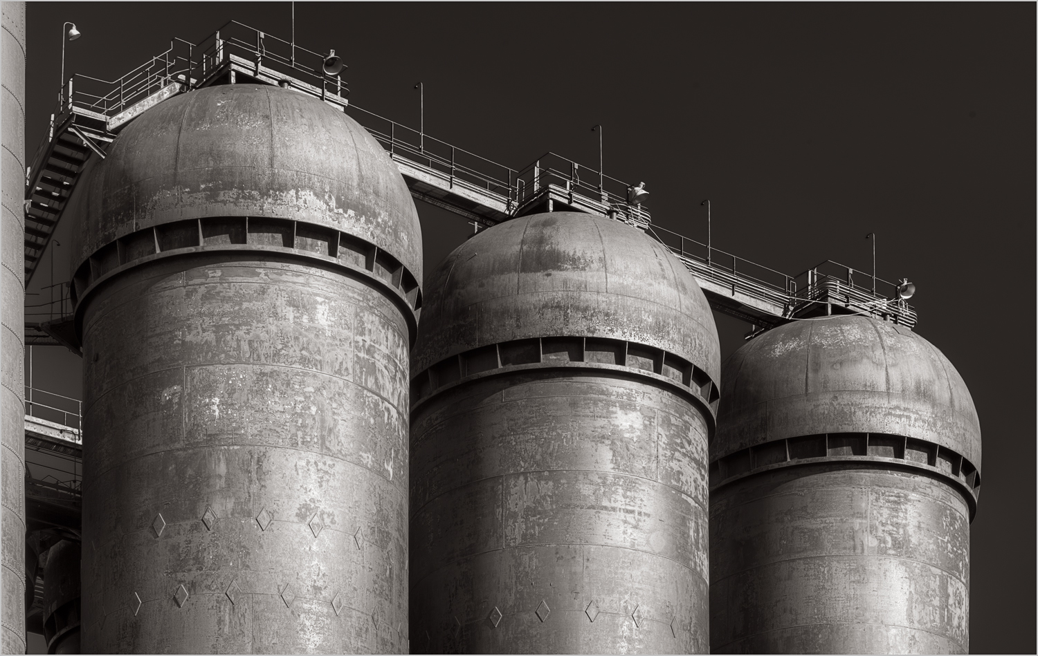 Stack towers at the Carrie Furnace in Rankin, Pennsylvania.