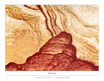 Mount Sinai, as seen in a photograph of a piece of stone.