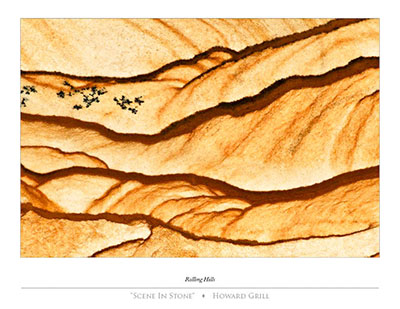 Abstract photograph of a piece of rock that looks like rolling hills