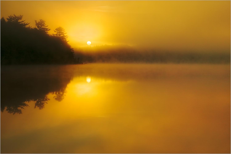 Sunrise at Pete's Lake in Michigan's Upper Peninsula.