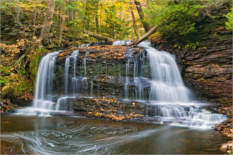 Rock River Falls in Michigan's Upper Peninsula.