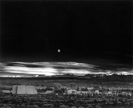 """Moonrise, Hernandez, New Mexico"" by http://www.alindergallery.com/. Licensed under Fair use via Wikipedia -"