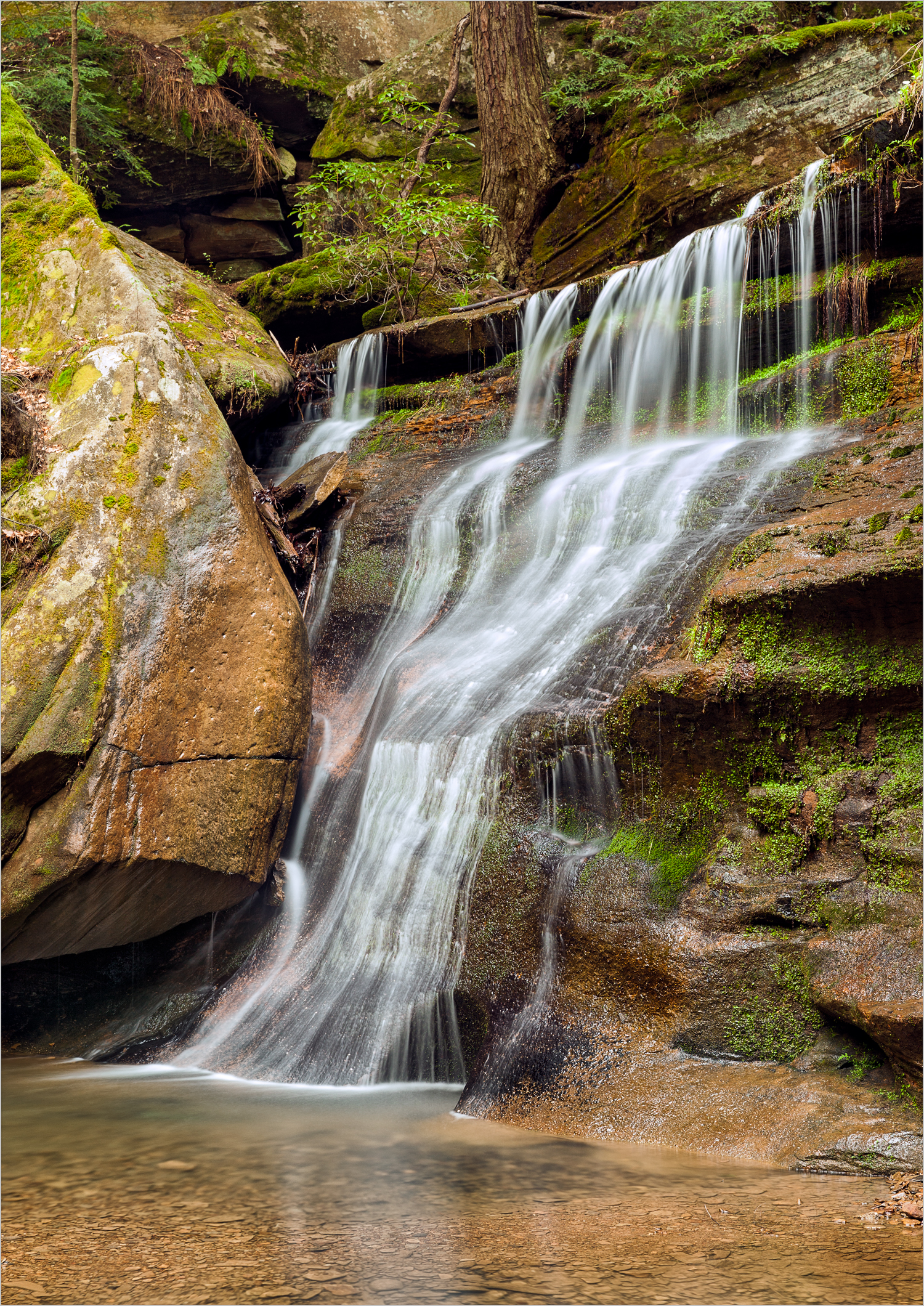 Unnamed Waterfall, Hocking Hills    © Howard Grill