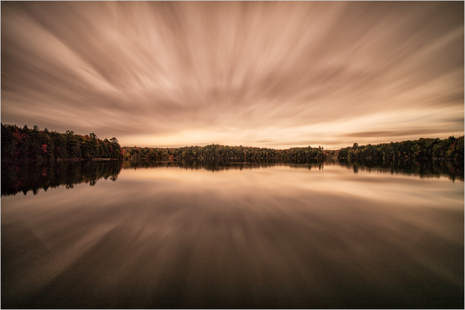 Sunset Over Pete's Lake in Michigan's Upper Peninsula  © Howard Grill