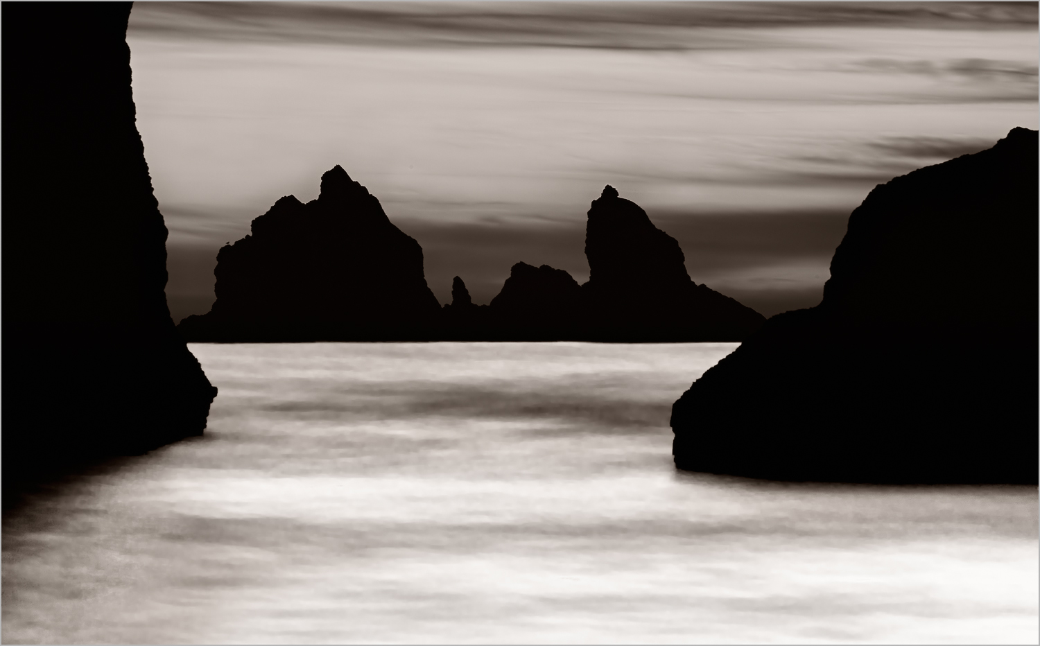 Bandon Beach, Platinum Toned    © Howard Grill