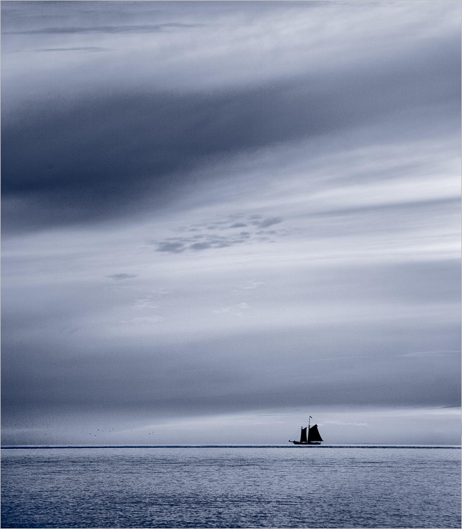 Lone Sailboat  © Howard Grill