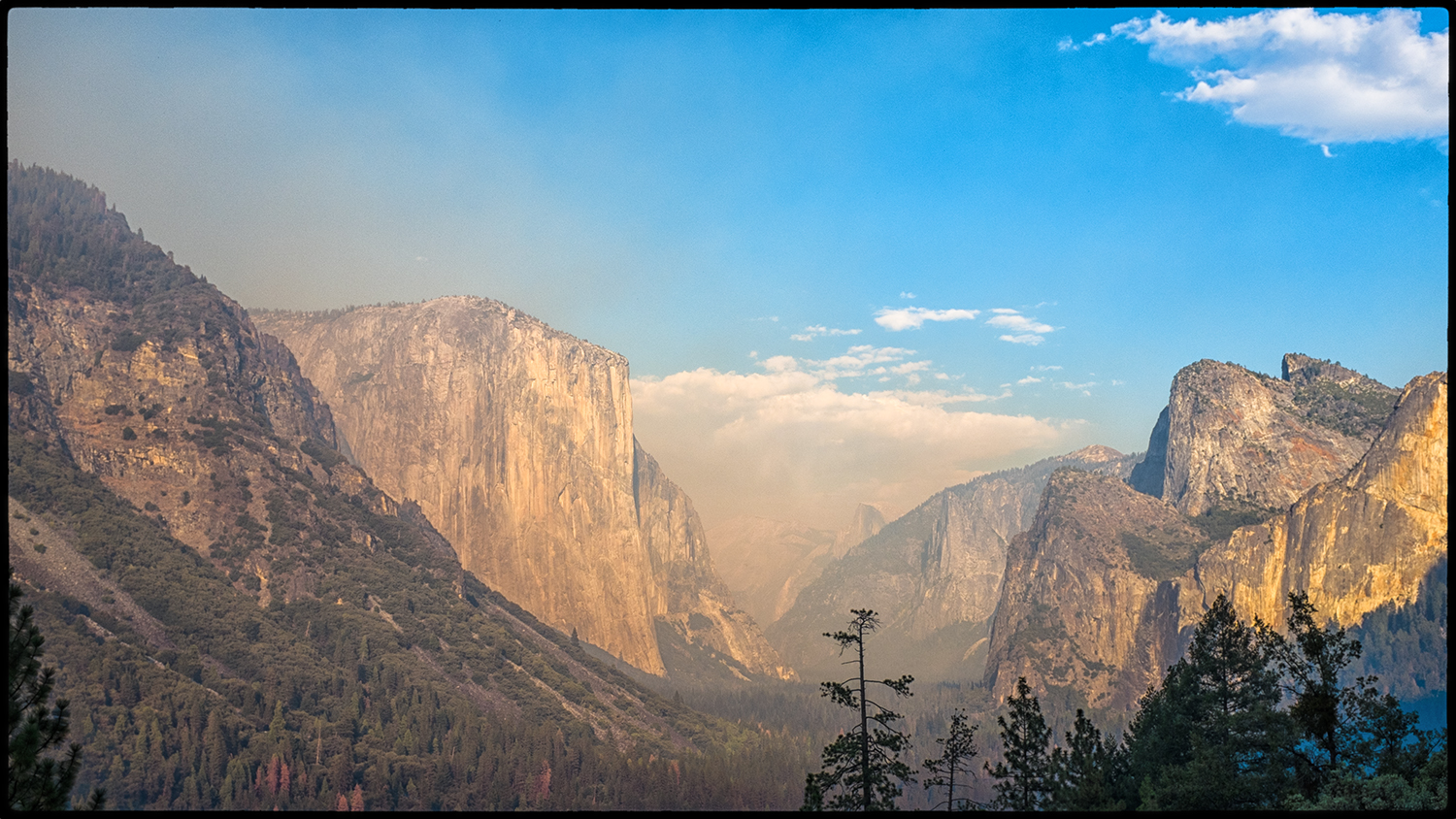 Smoke Fills Yosemite Valley  Fujifilm X100S