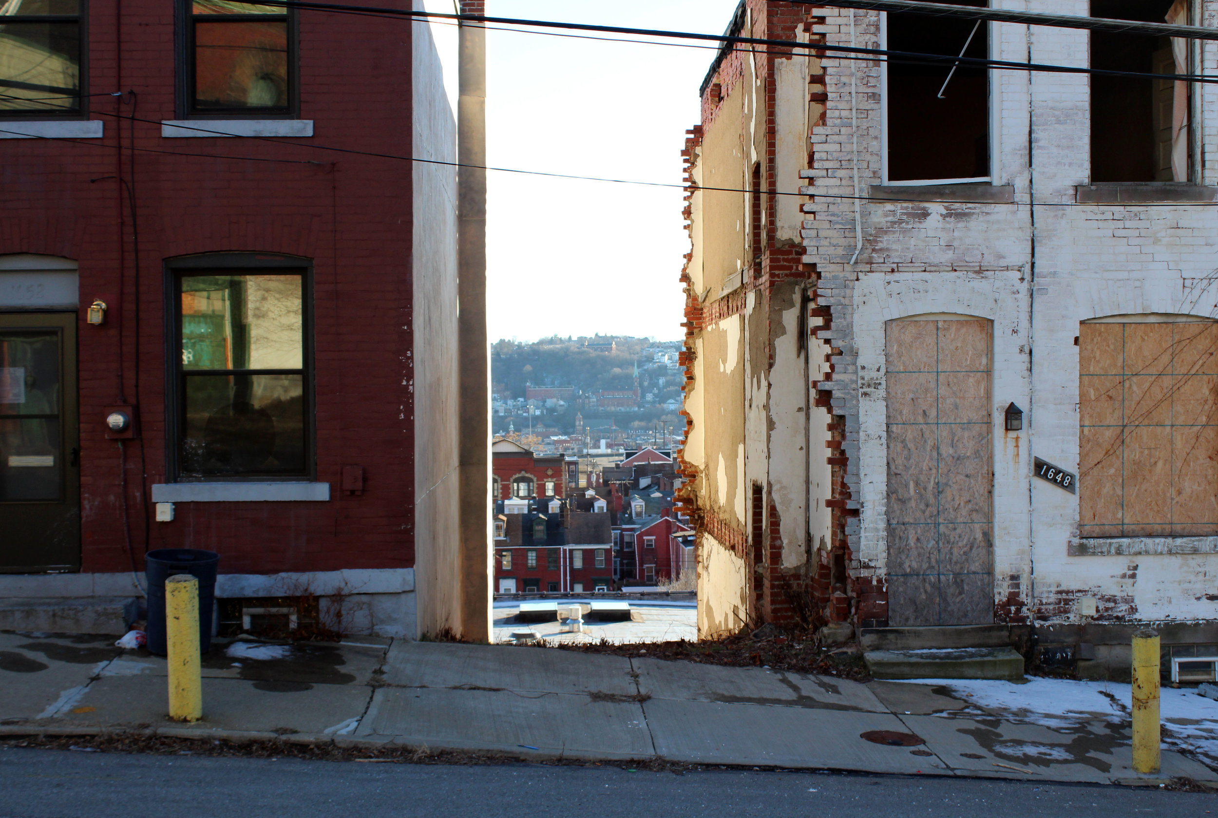 During my visit to the Hill District I discovered there were often buildings missing.This defining characteristic inspired my overall theme of gaps.