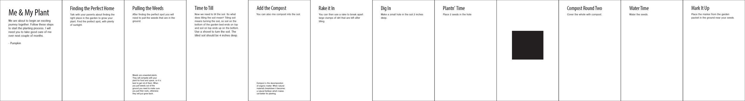 Informational Booklet Plan
