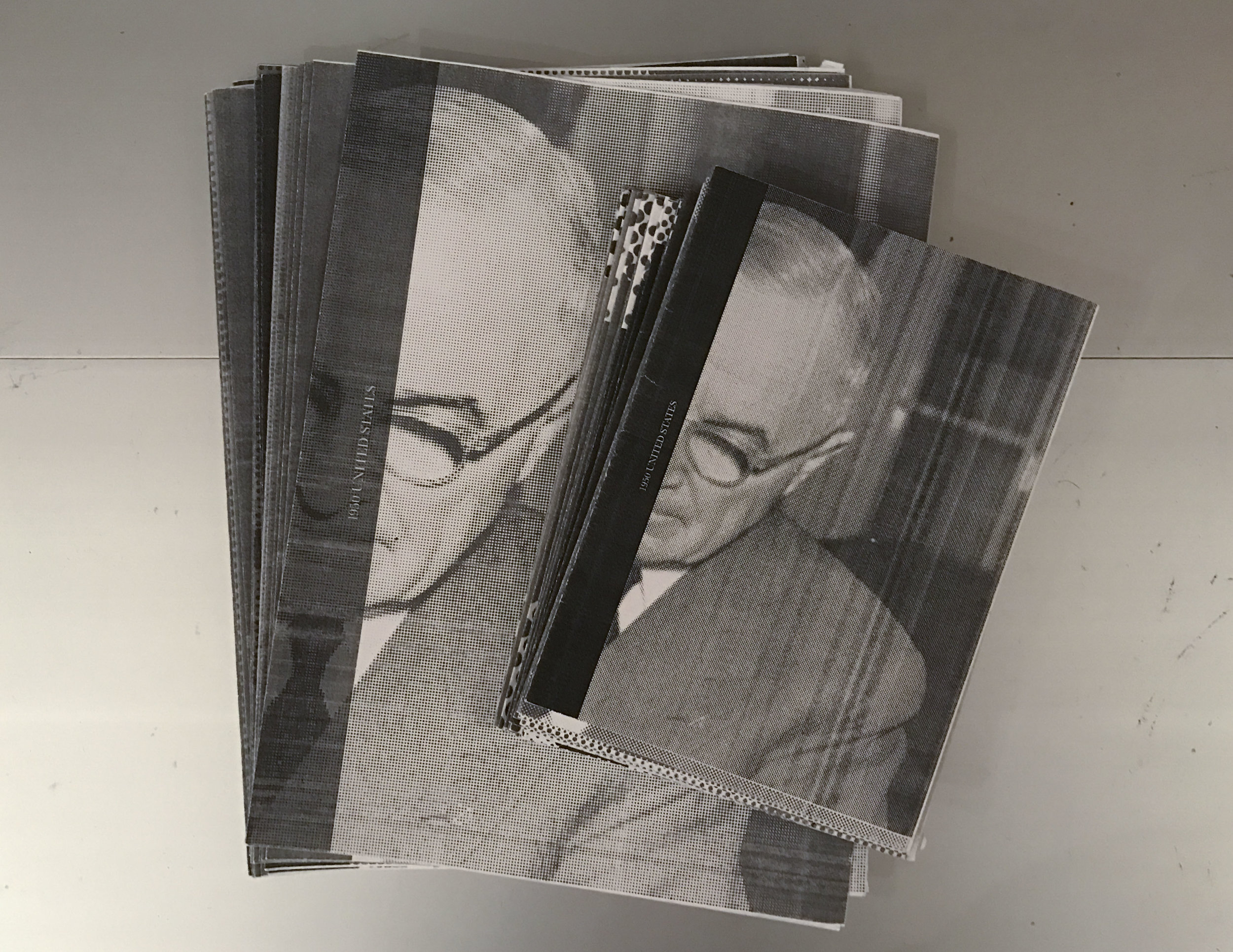 I created multiple small dummy books before printing the final large copy.