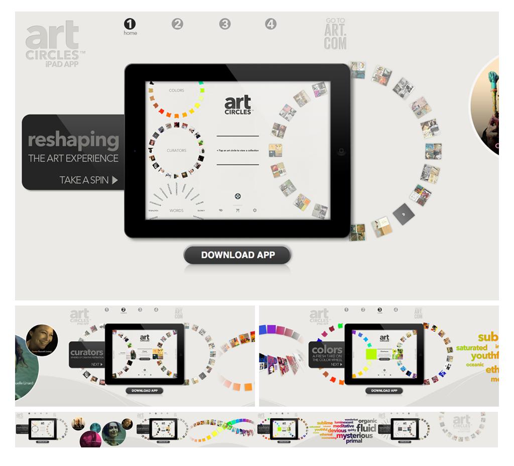 Art.com Art Circles iPad App Landing Page.jpg