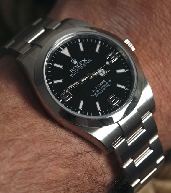 Rolex's statement on what a straightforward, functional time piece should look like.