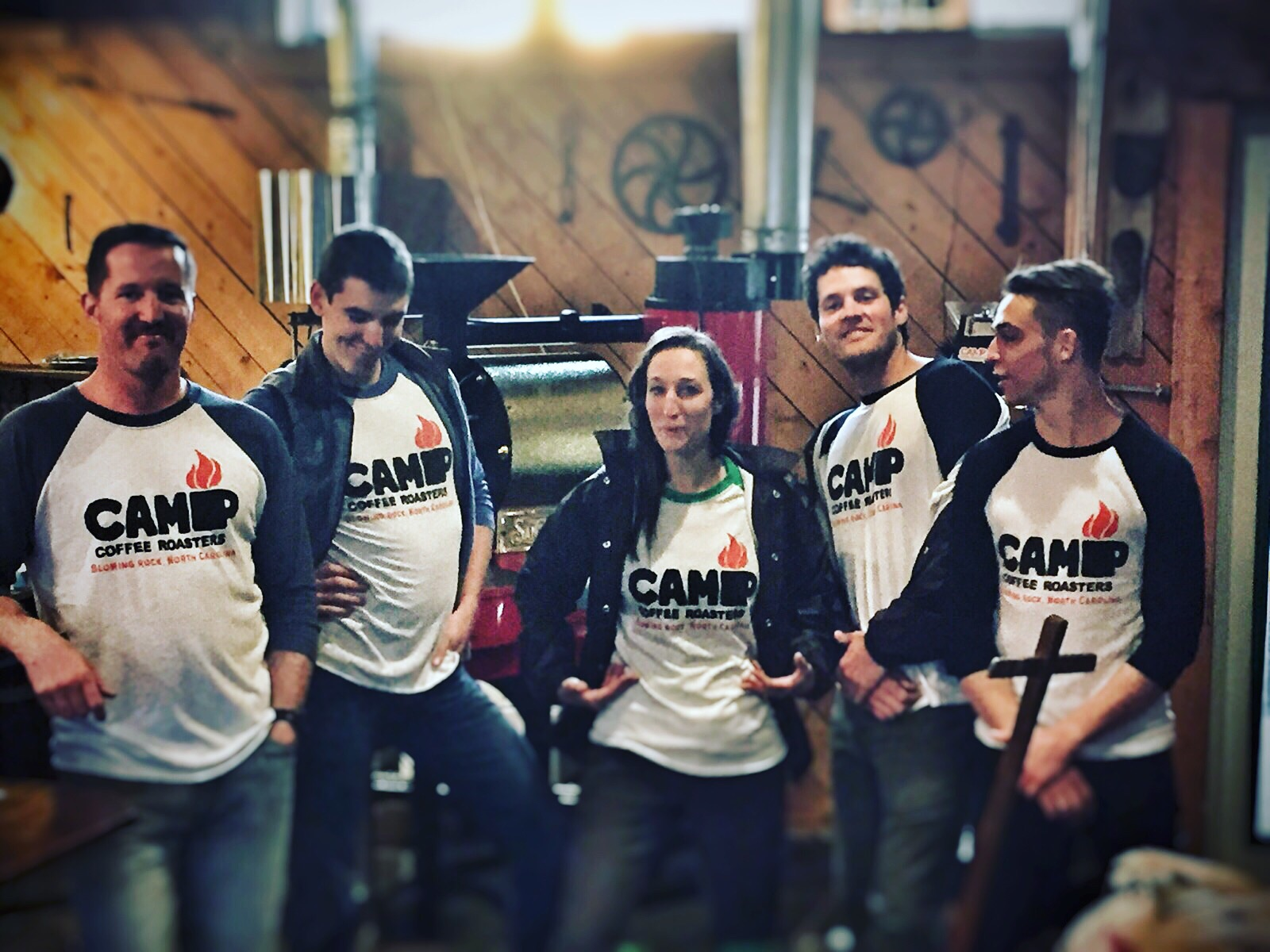 #teamcamp striking a pose after an early morning coffee cupping