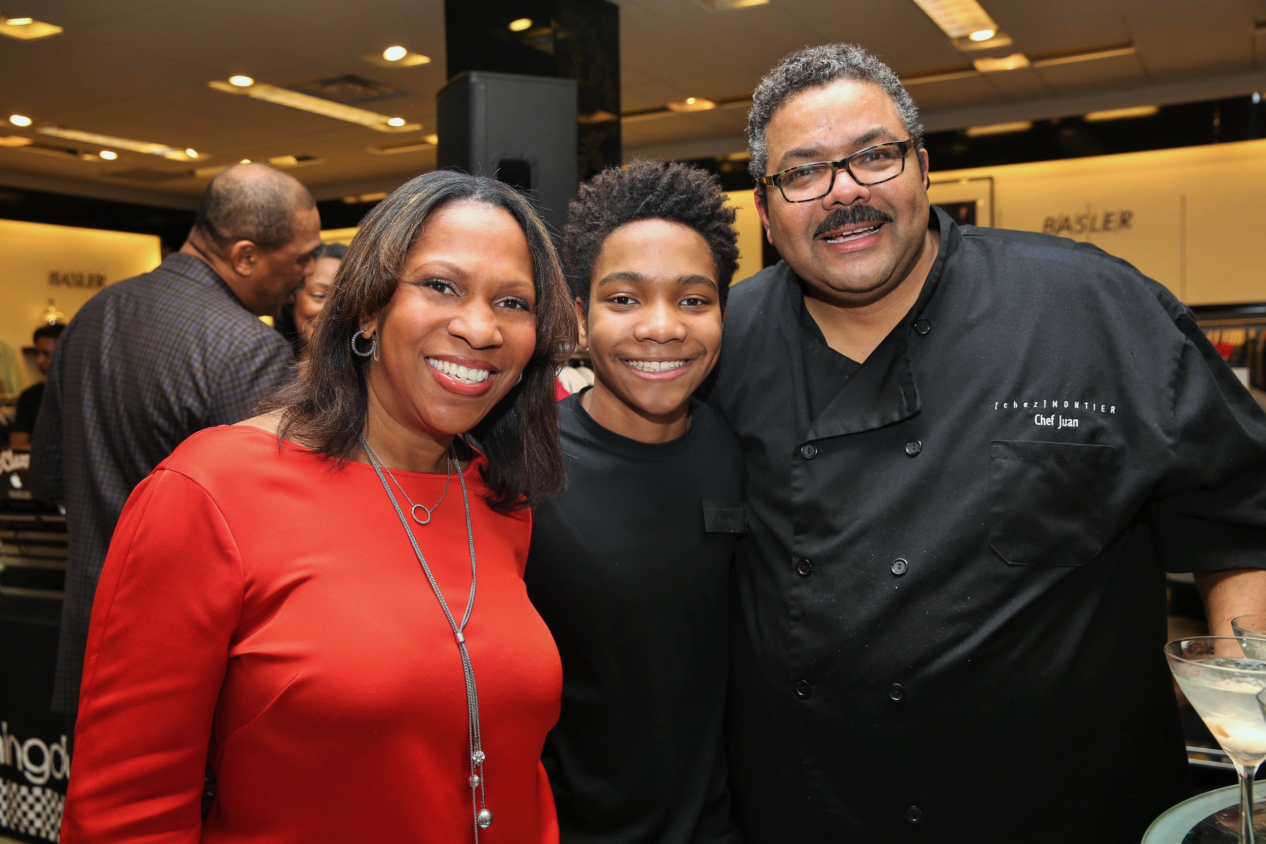 Chef Juan with Wife & Partner Judith and Son Austin