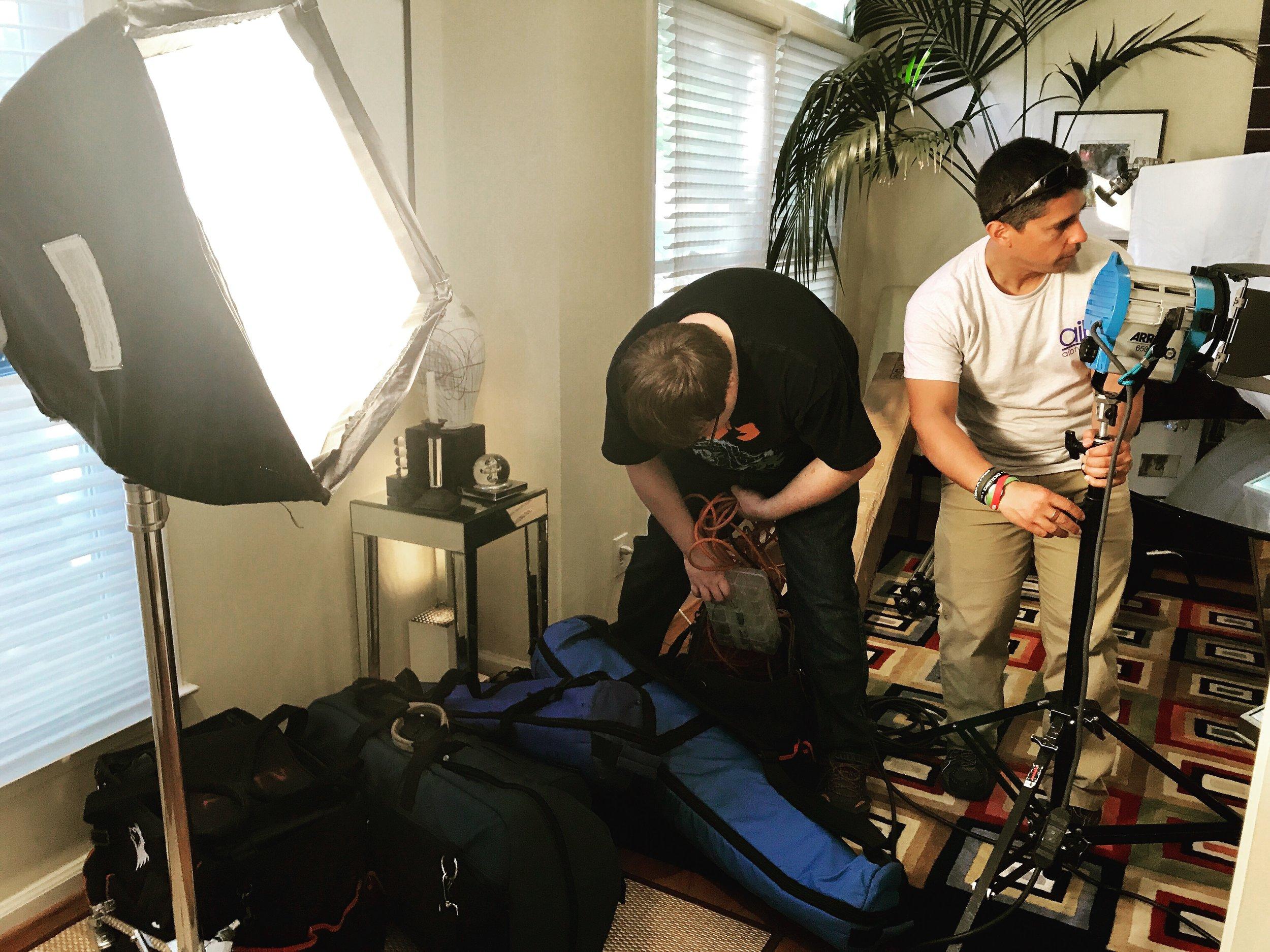 AIB Camera Crew Arrives at Chez Montier