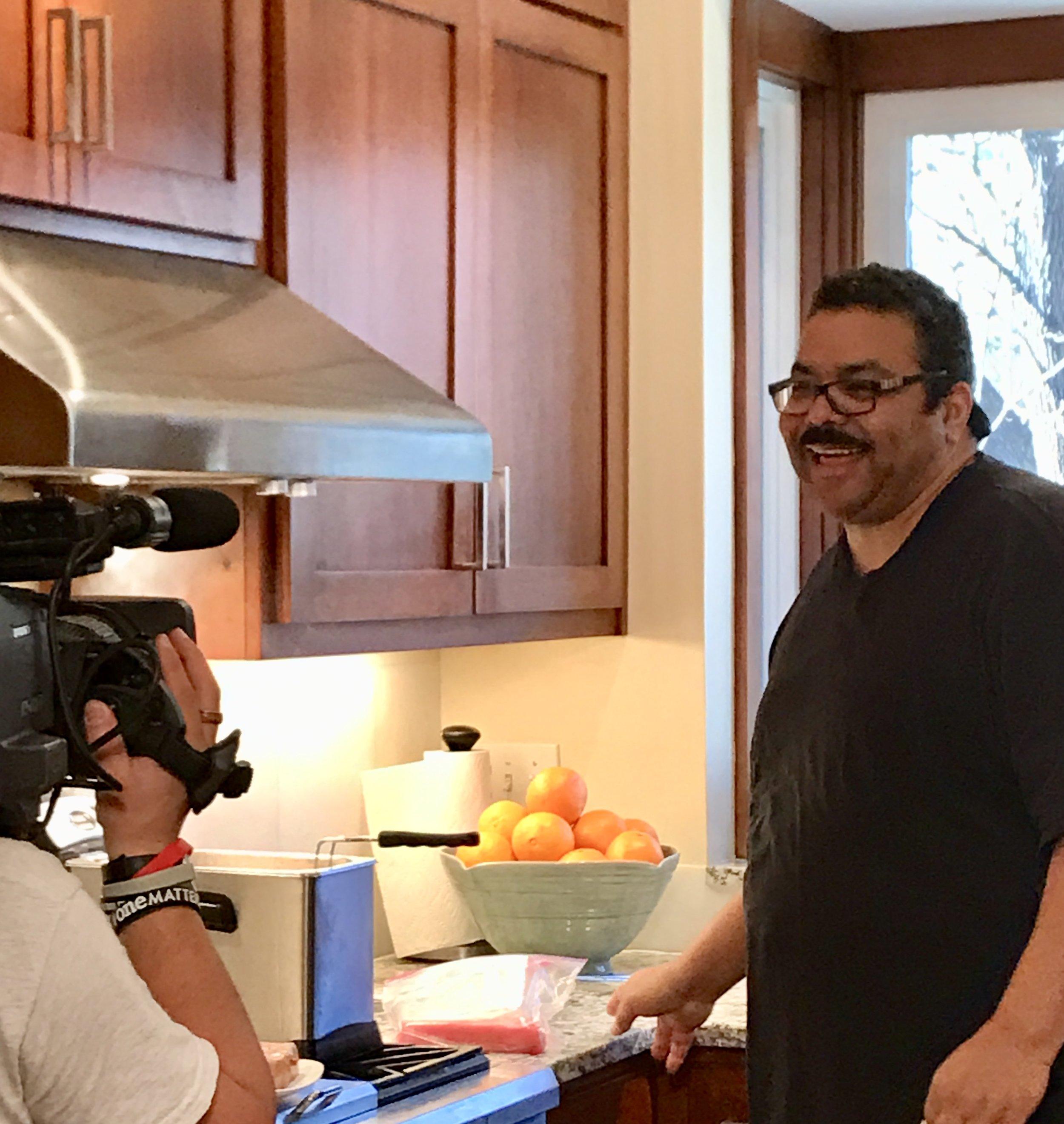 Chef Juan Having Fun on Camera