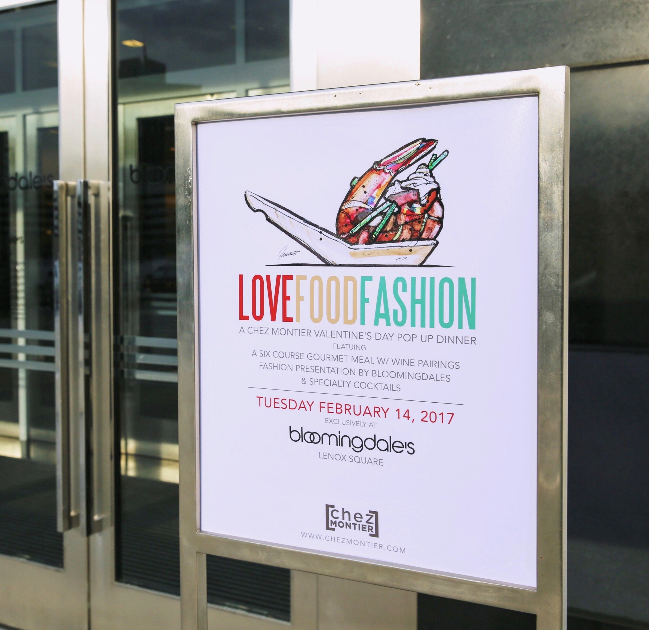 LOVEFOODFASHION Signage at Bloomingdale's