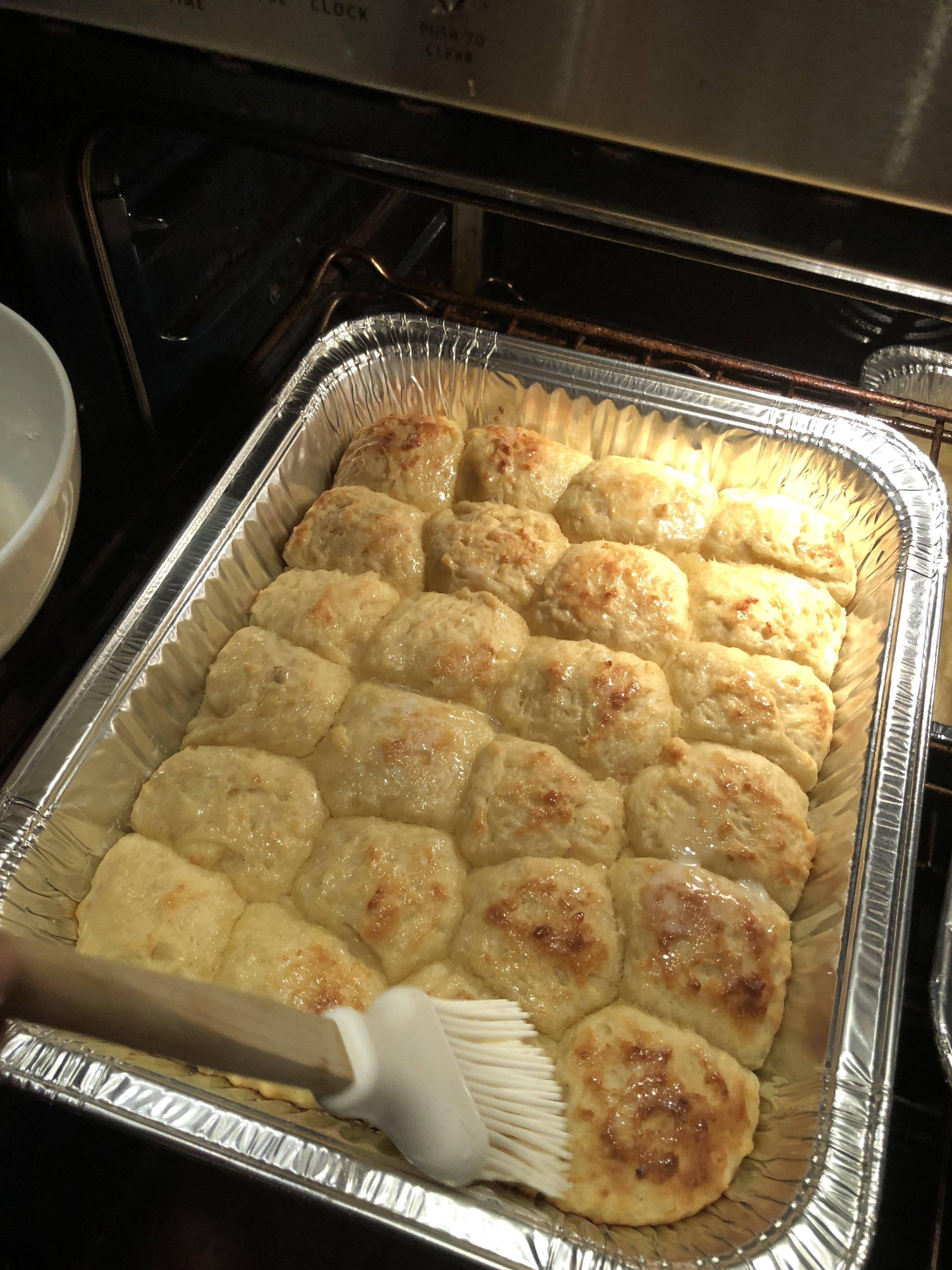 Austin's Rolls Baking in Oven.JPG