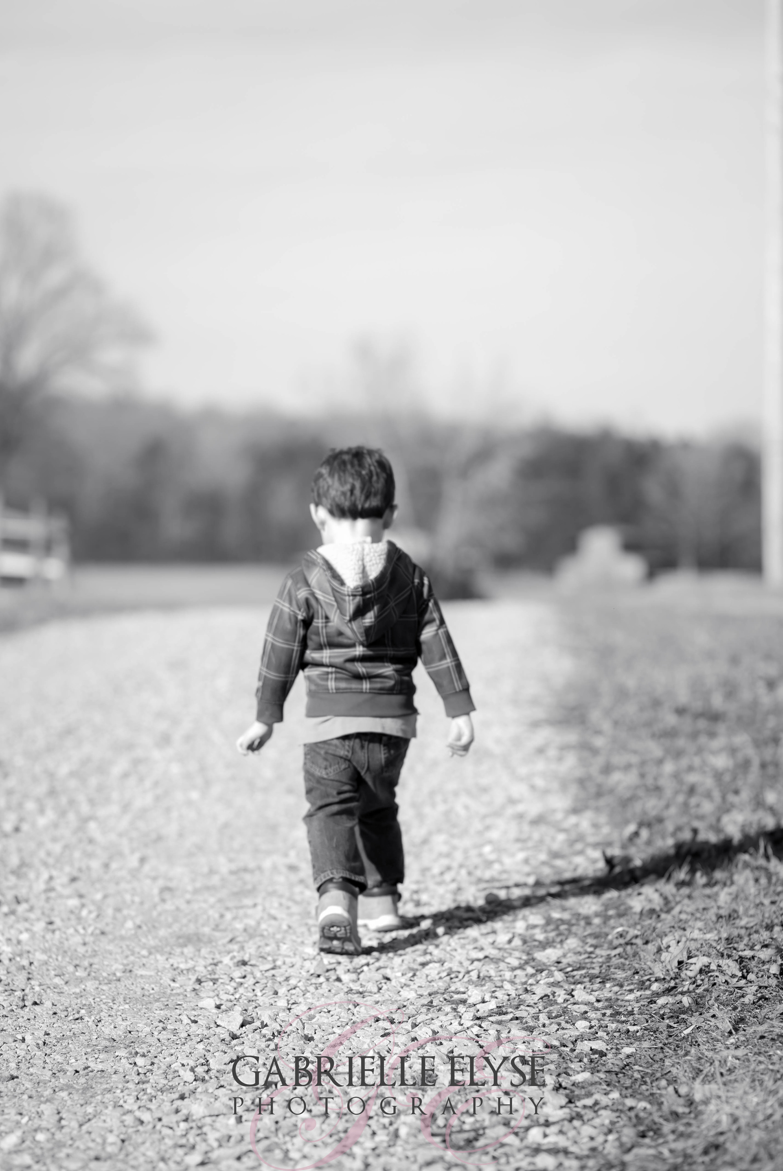 Just a boy walking alone with his thoughts