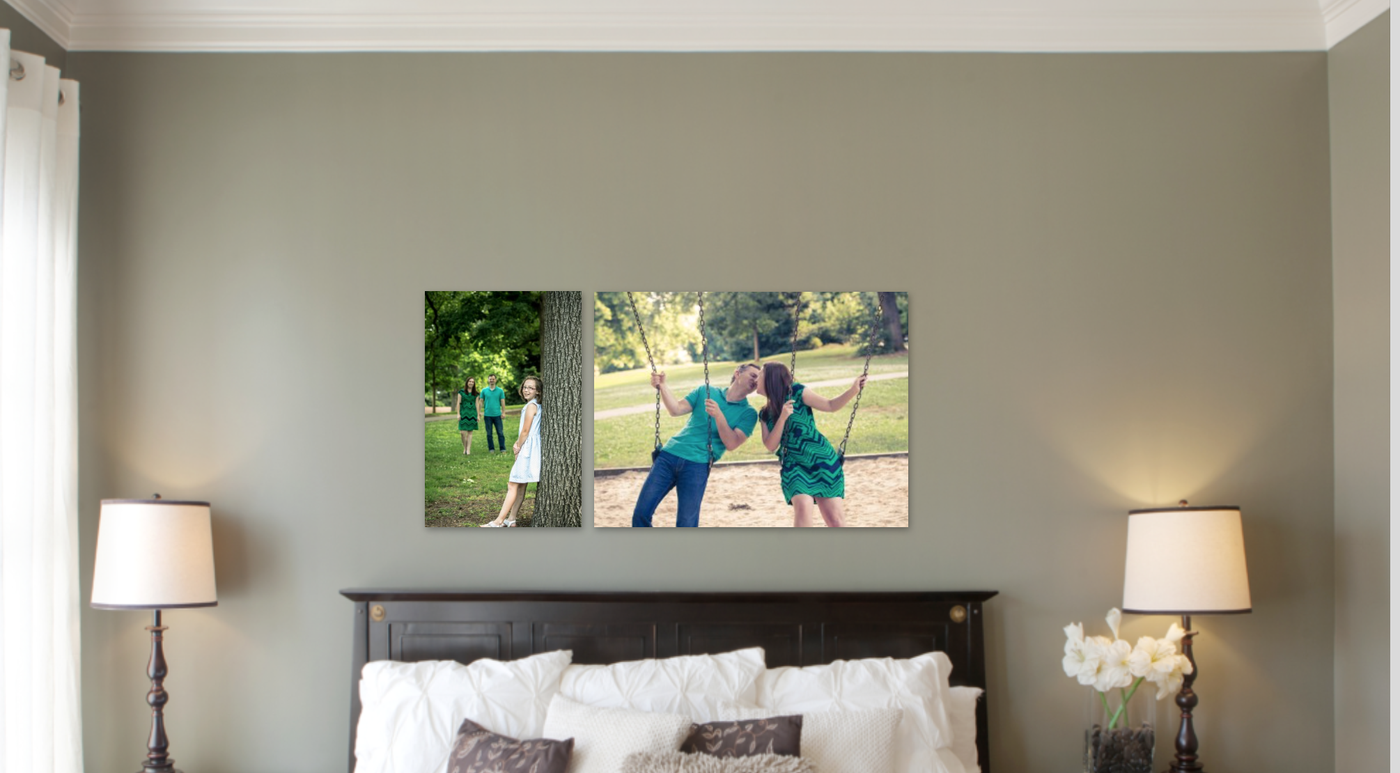 Decorate your Master Bedroom with your Family Photos.