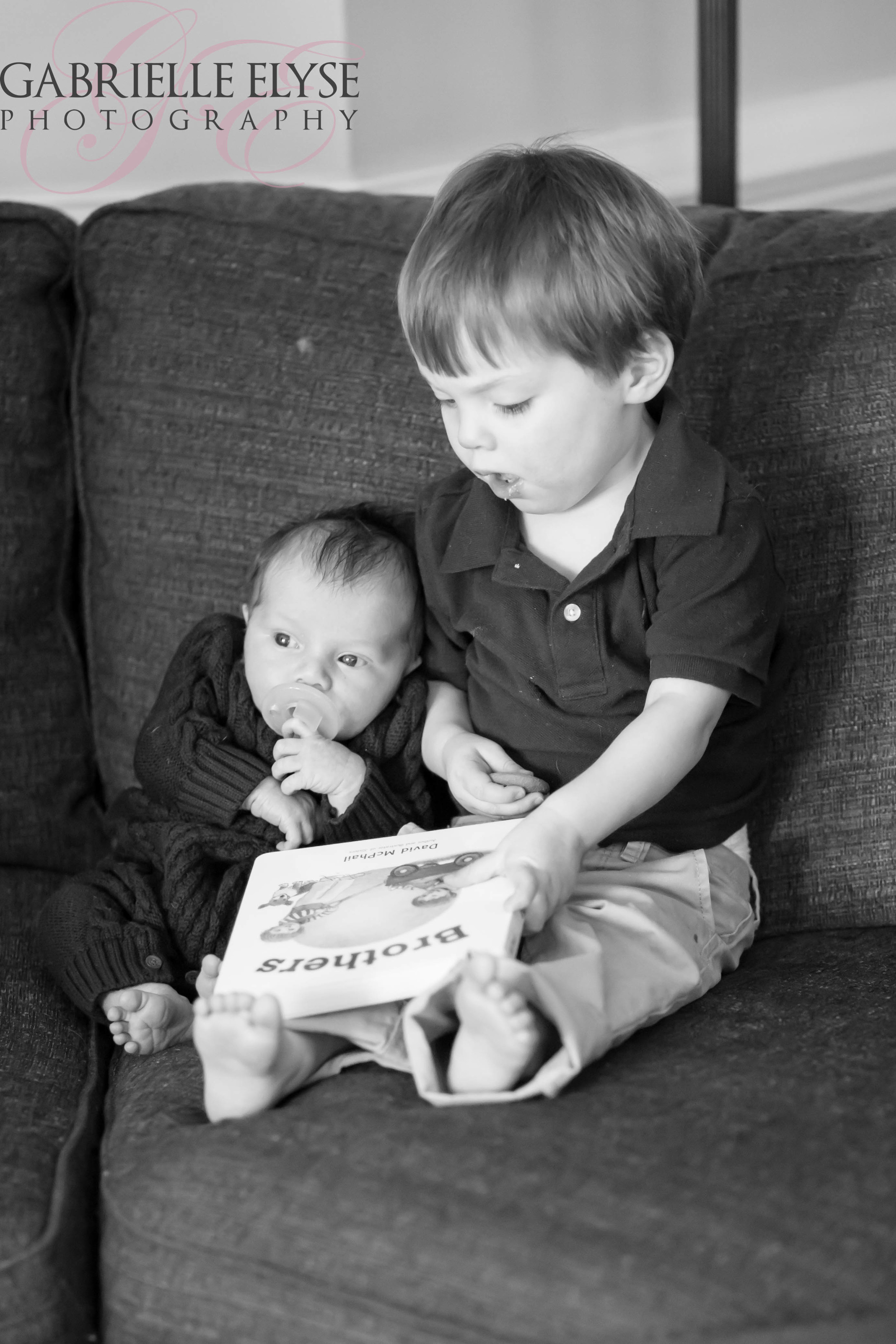 Love this as Big Brother is about to read to his new baby brother- look at the book! How precious?!