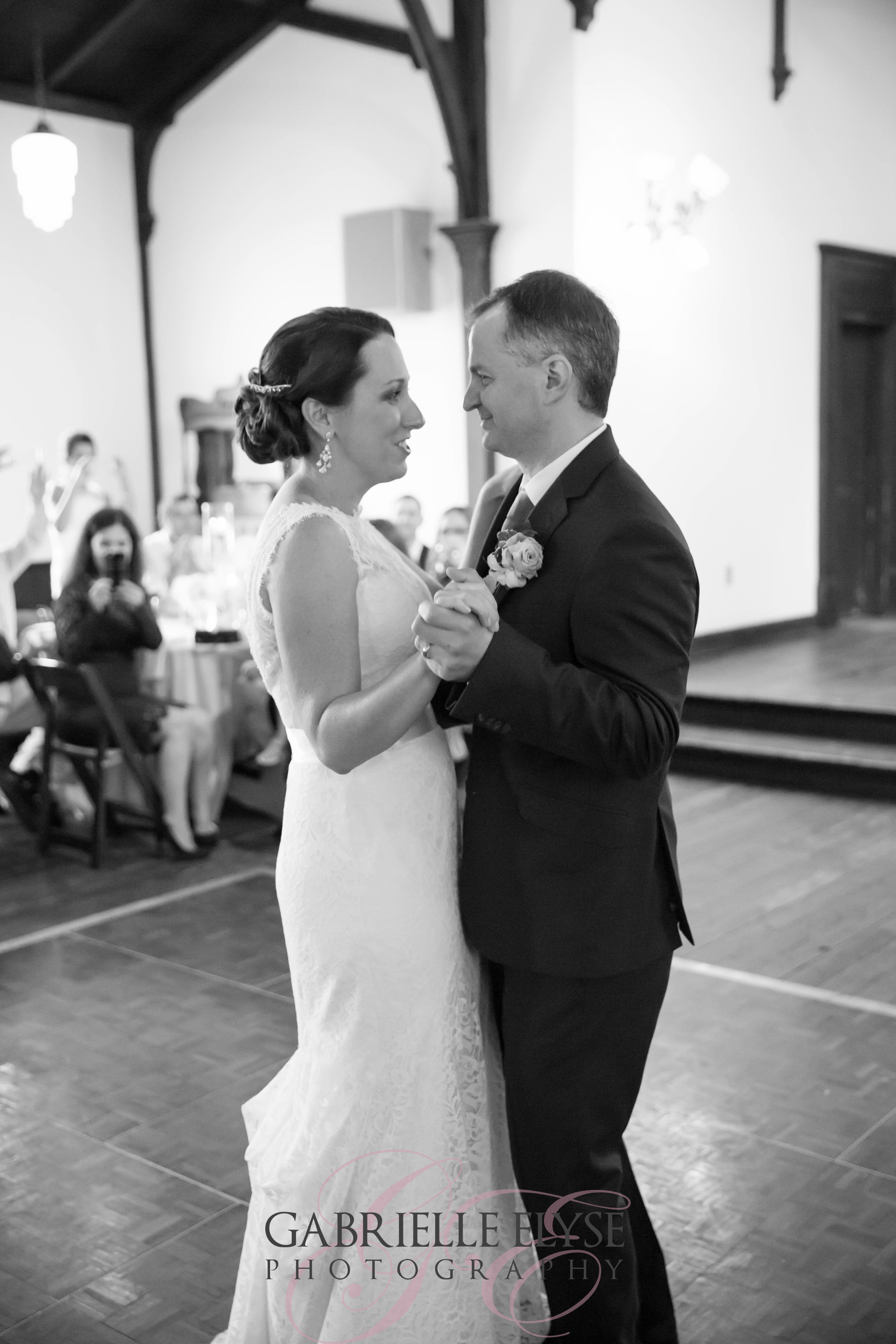 Dancing during their first dance and looking absolutely stunning