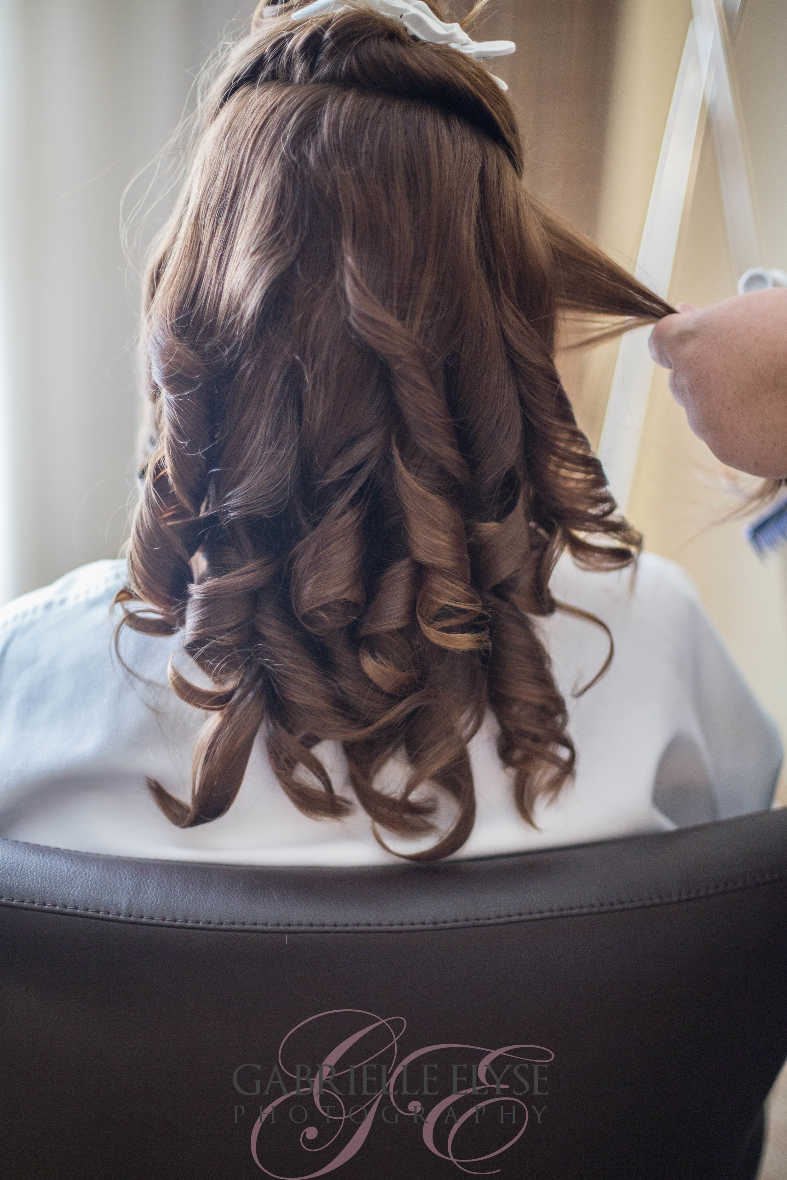 getting ready hair wedding