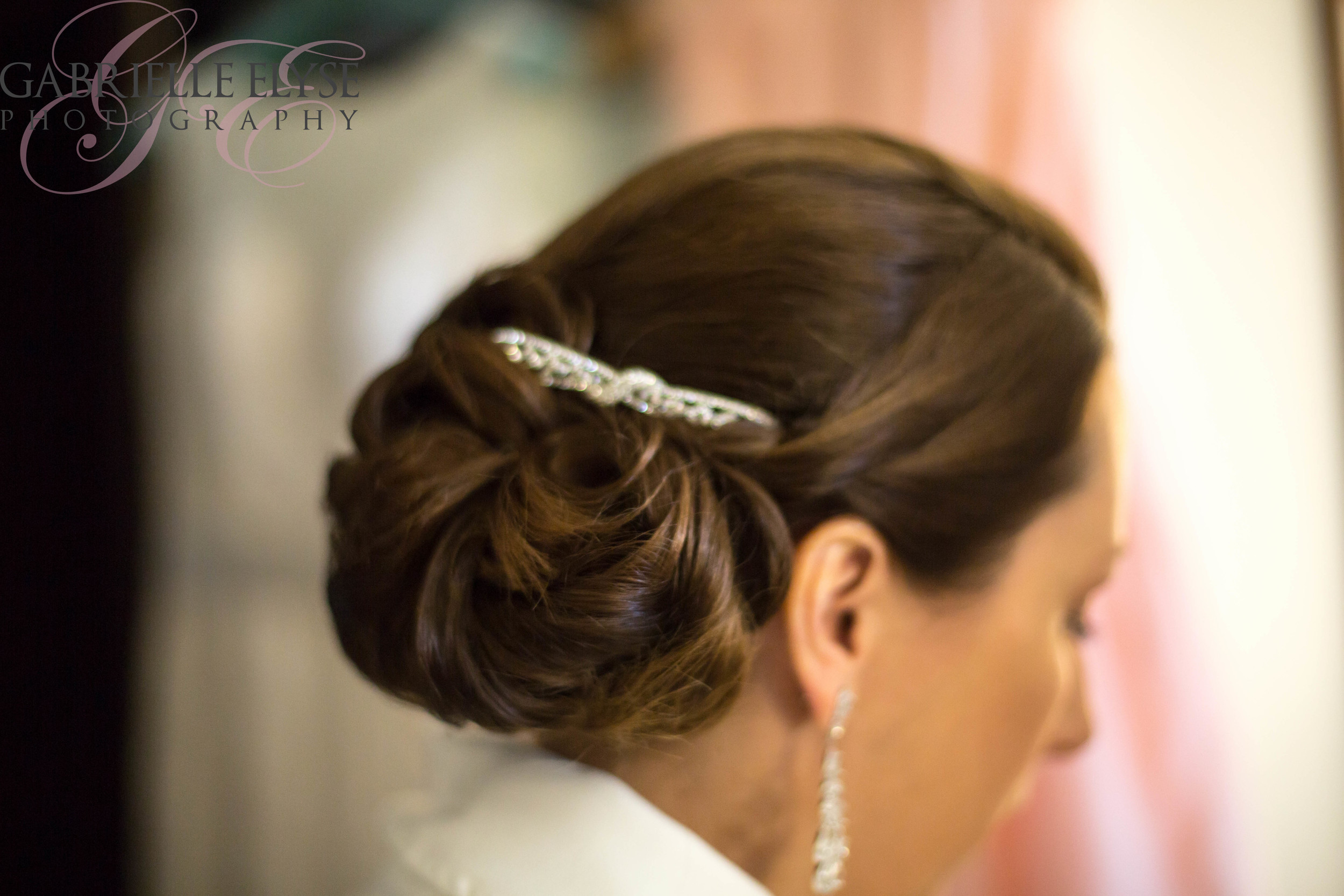bride wedding hair raleigh