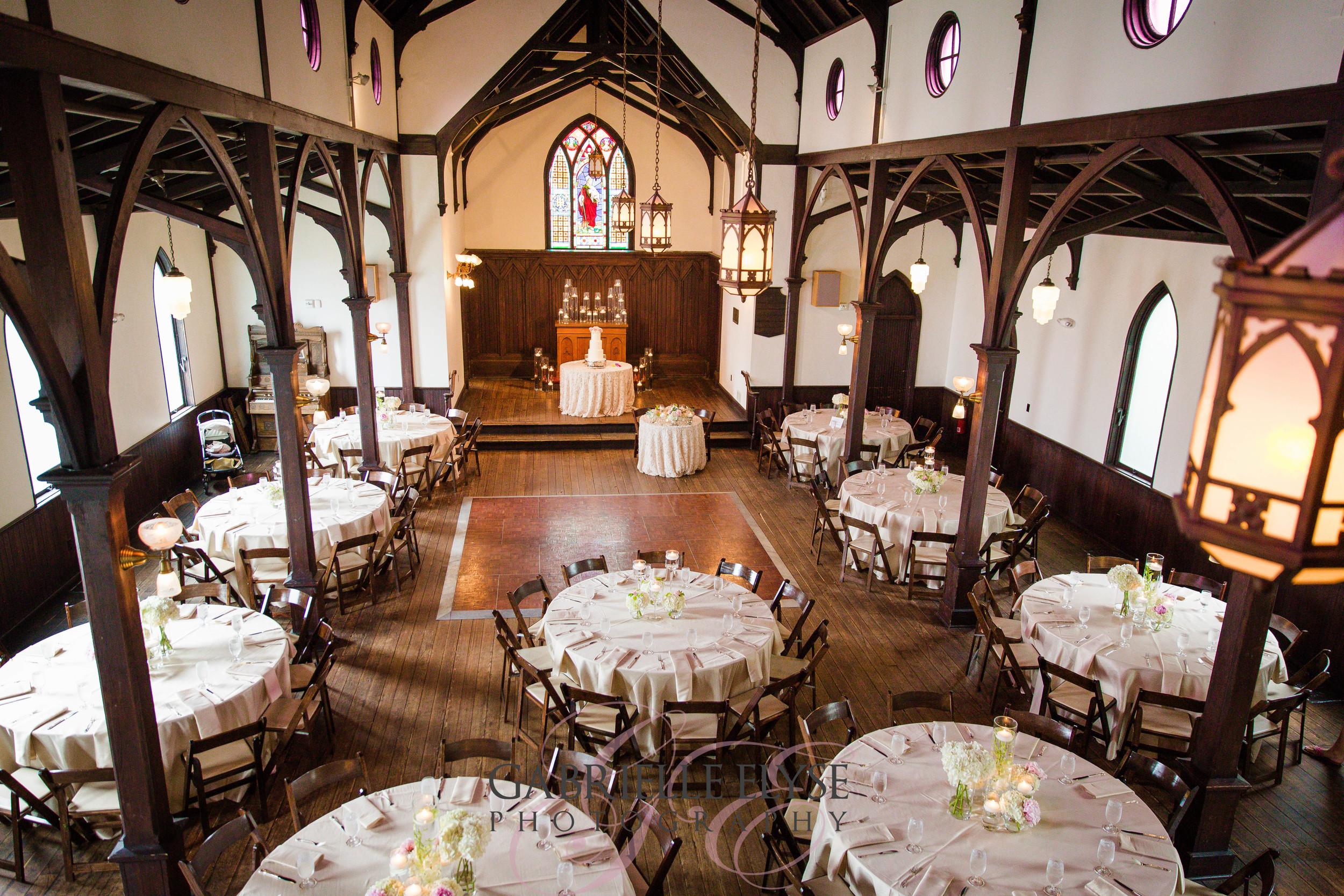 reception tables all saints