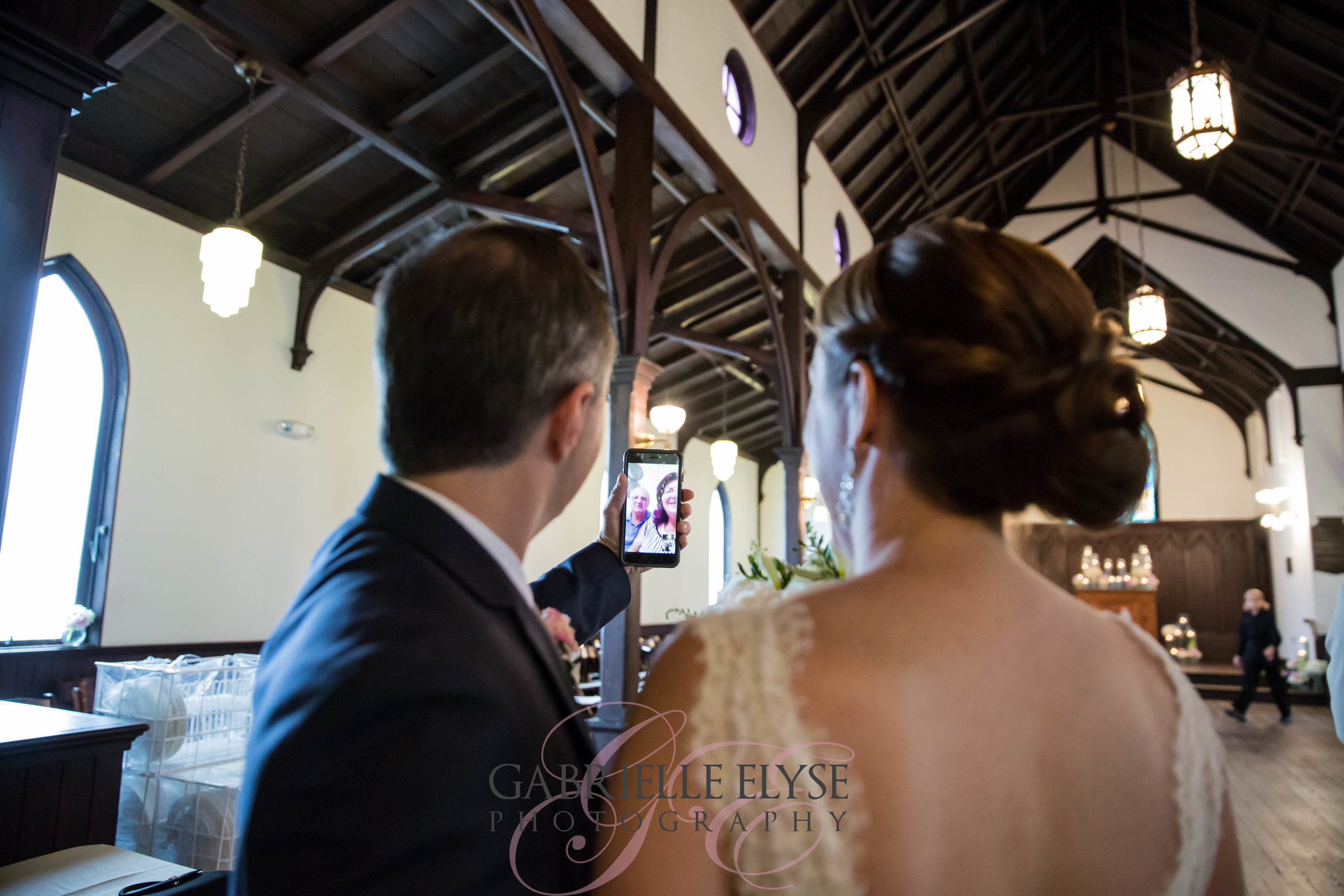Kursad's parents were unable to make it to the wedding, but they were on Face Time for the ceremony and a chat after. <3