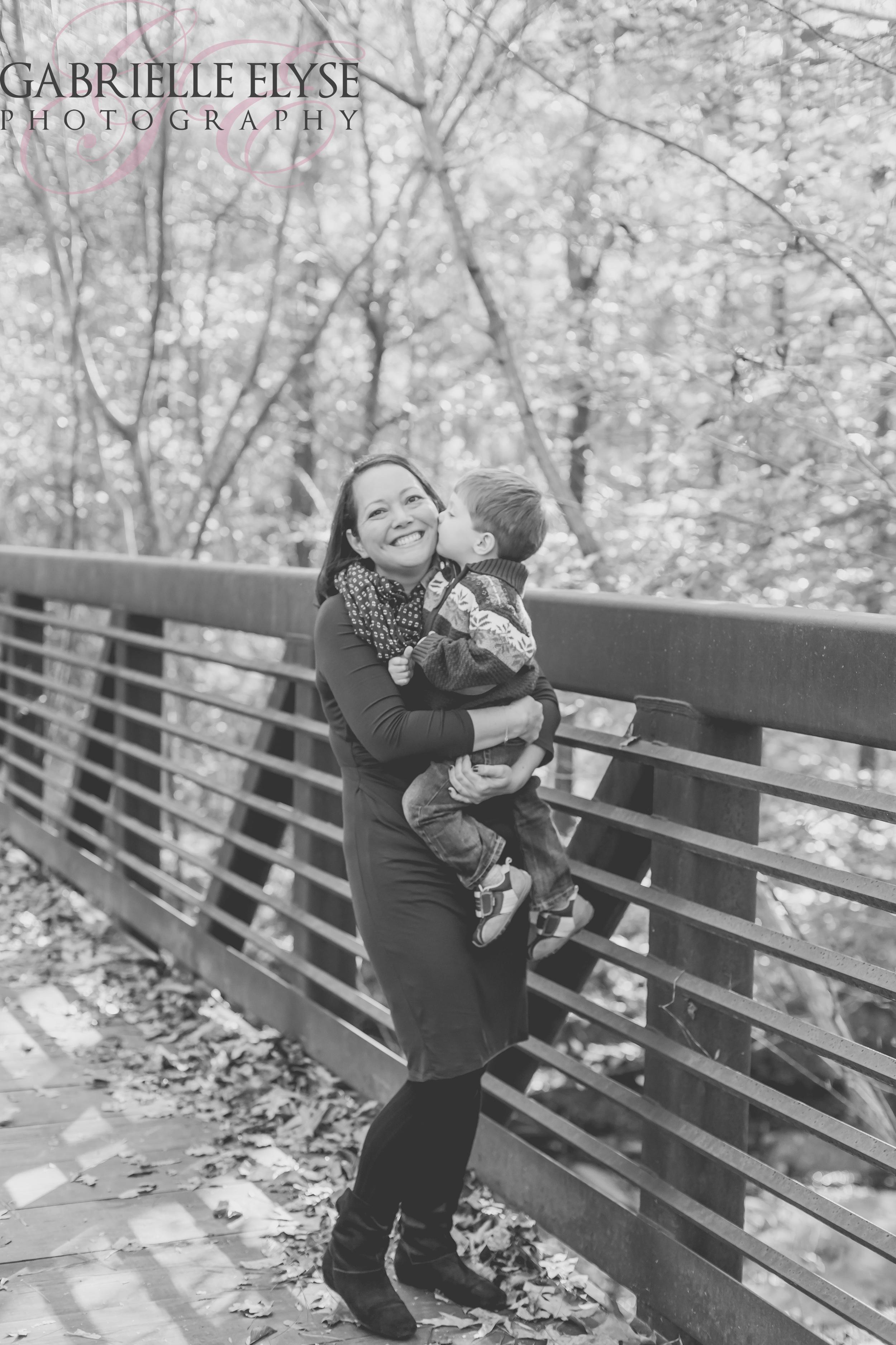 Mr I loving on his momma!
