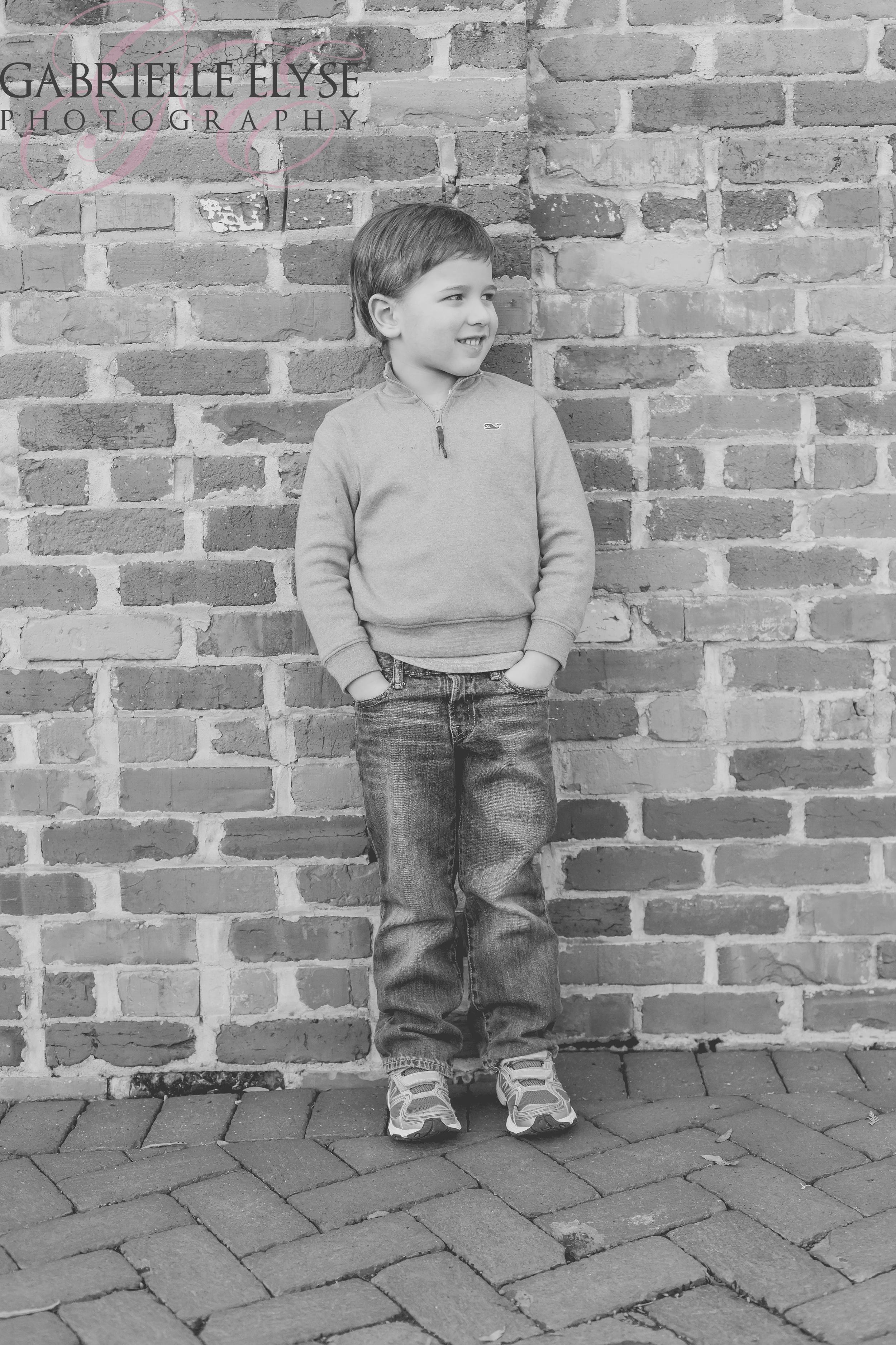 durham boy brick wall