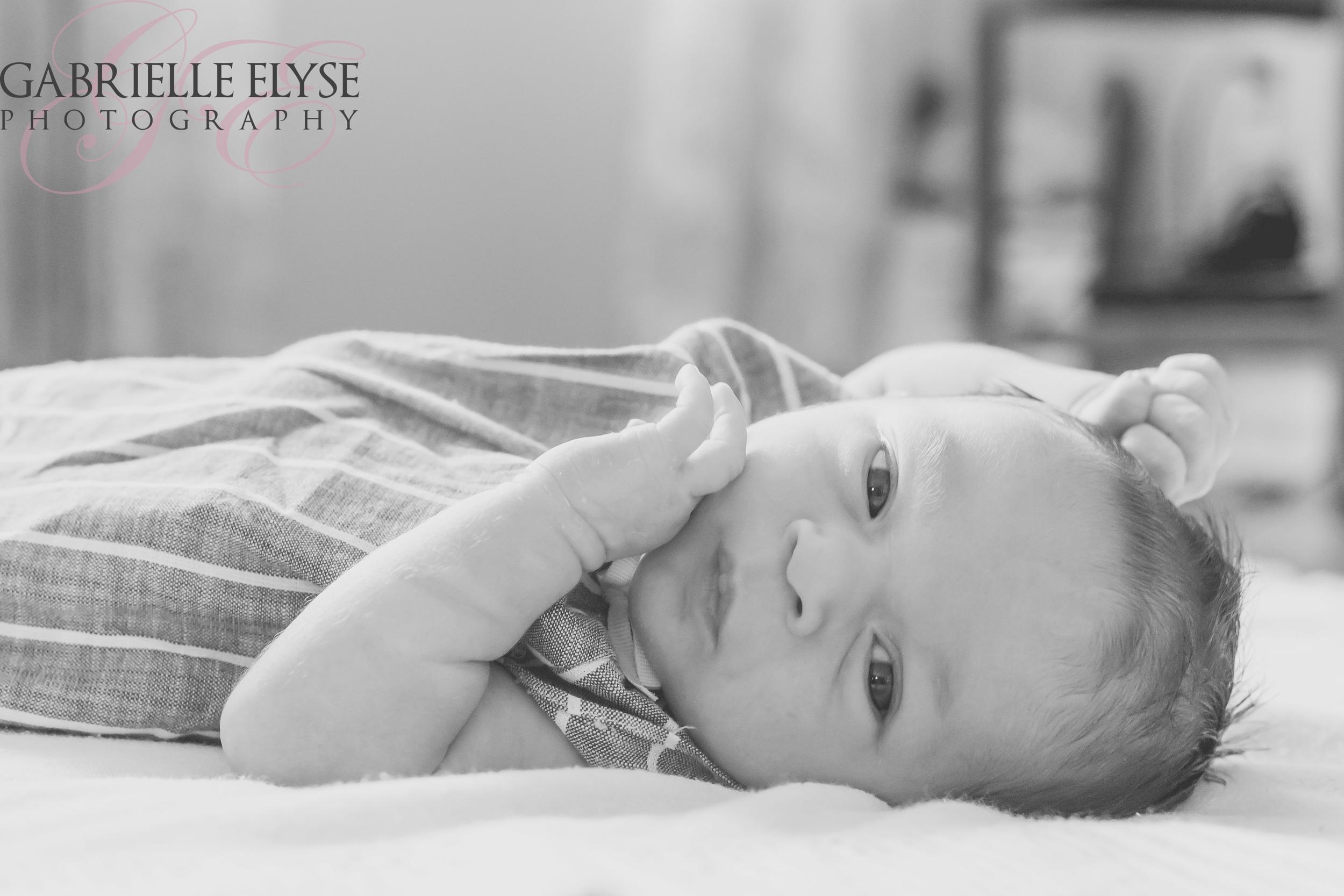 newborn raleigh black and white
