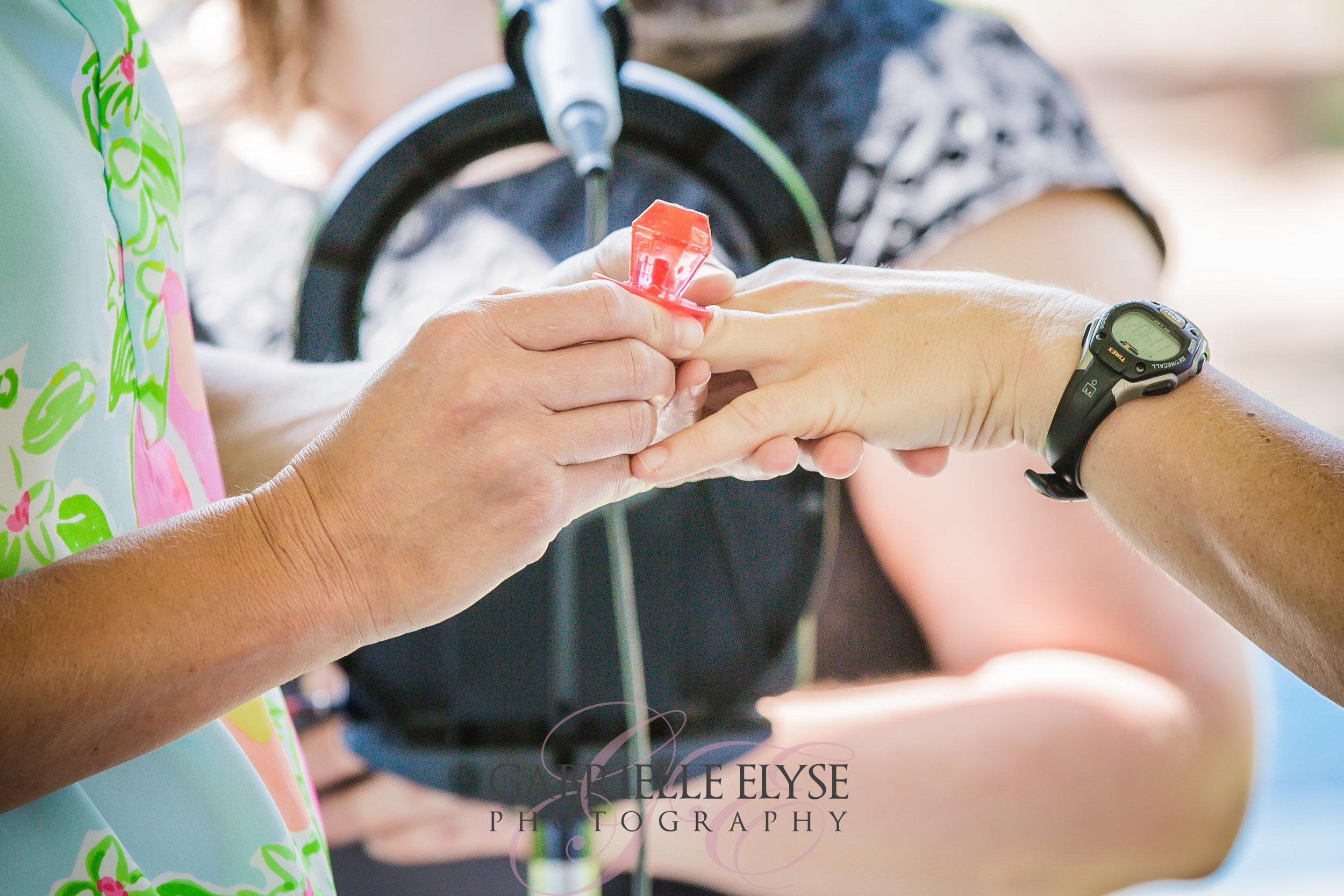 ring exchange wedding ring pop