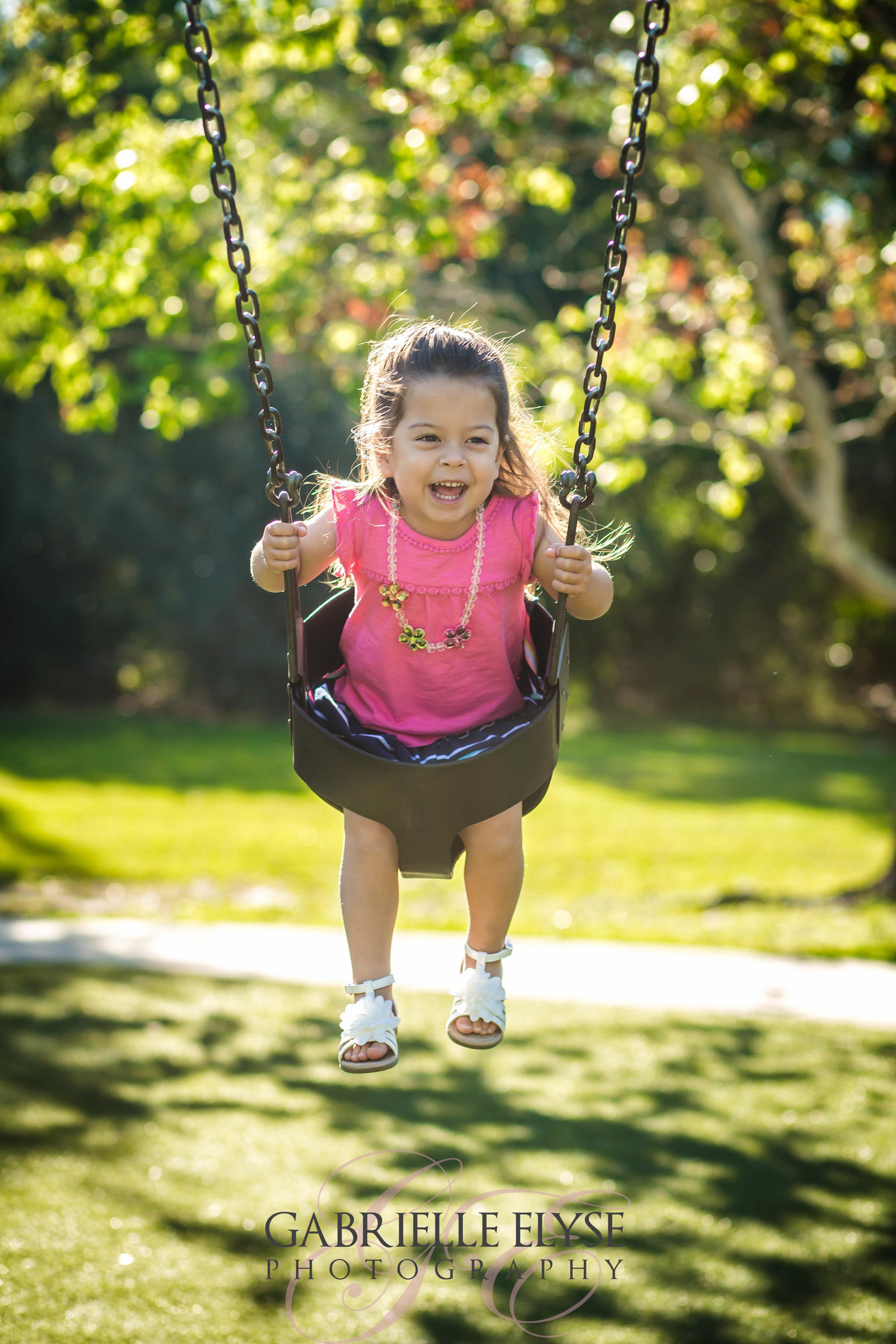 swinging girl florida park