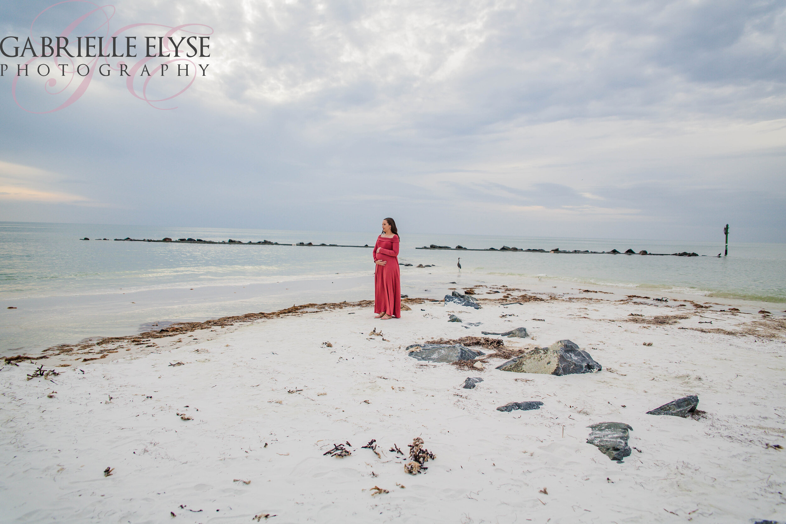 florida beach maternity session