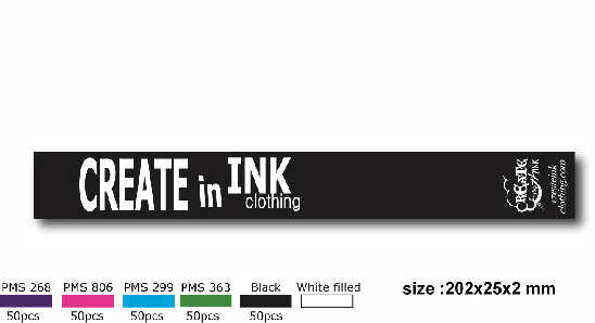 CREATE IN INK ARMBANDS AND COLORS. THIS WAS A VERY GOOD SELLER FOR US