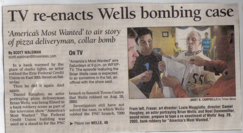 SOME PRESS ABOUT THAT AMERICA'S MOST WANTED EPISODE