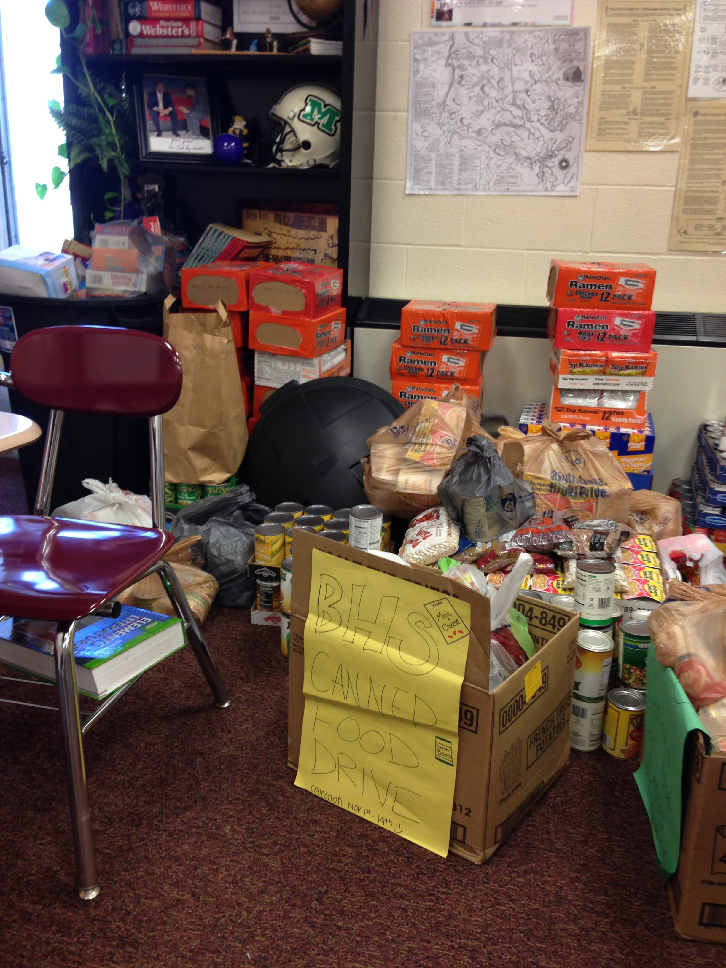 SOME OF THE WORK WE DID TO COLLECT CANS FOR OUR HOMEROOM