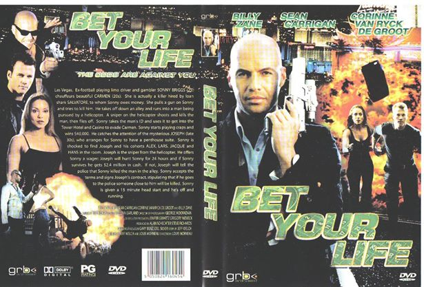 DVD COVER OF BET YOUR LIFE