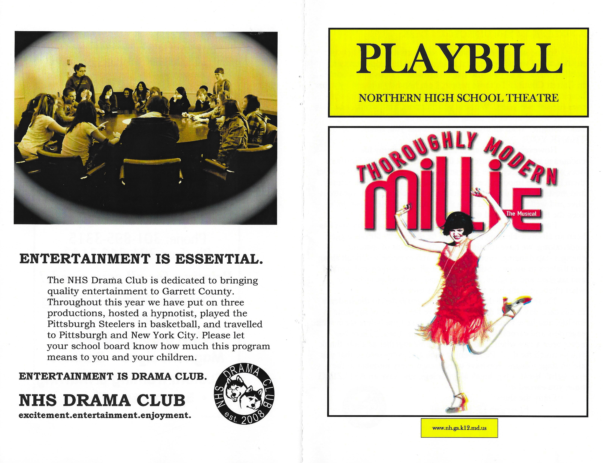 OUR THOROUGHLY MODERN MILLIE PLAYBILL