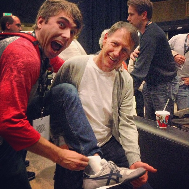 DENNIS DUGAN (DIRECTOR OF MOST OF ADAM SANDLER'S FILMS) GAVE ME HIS SOCKS.  IT'S A LONG STORY.