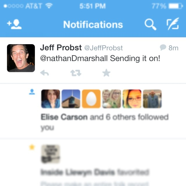 JEFF PROBST LIKED IT!
