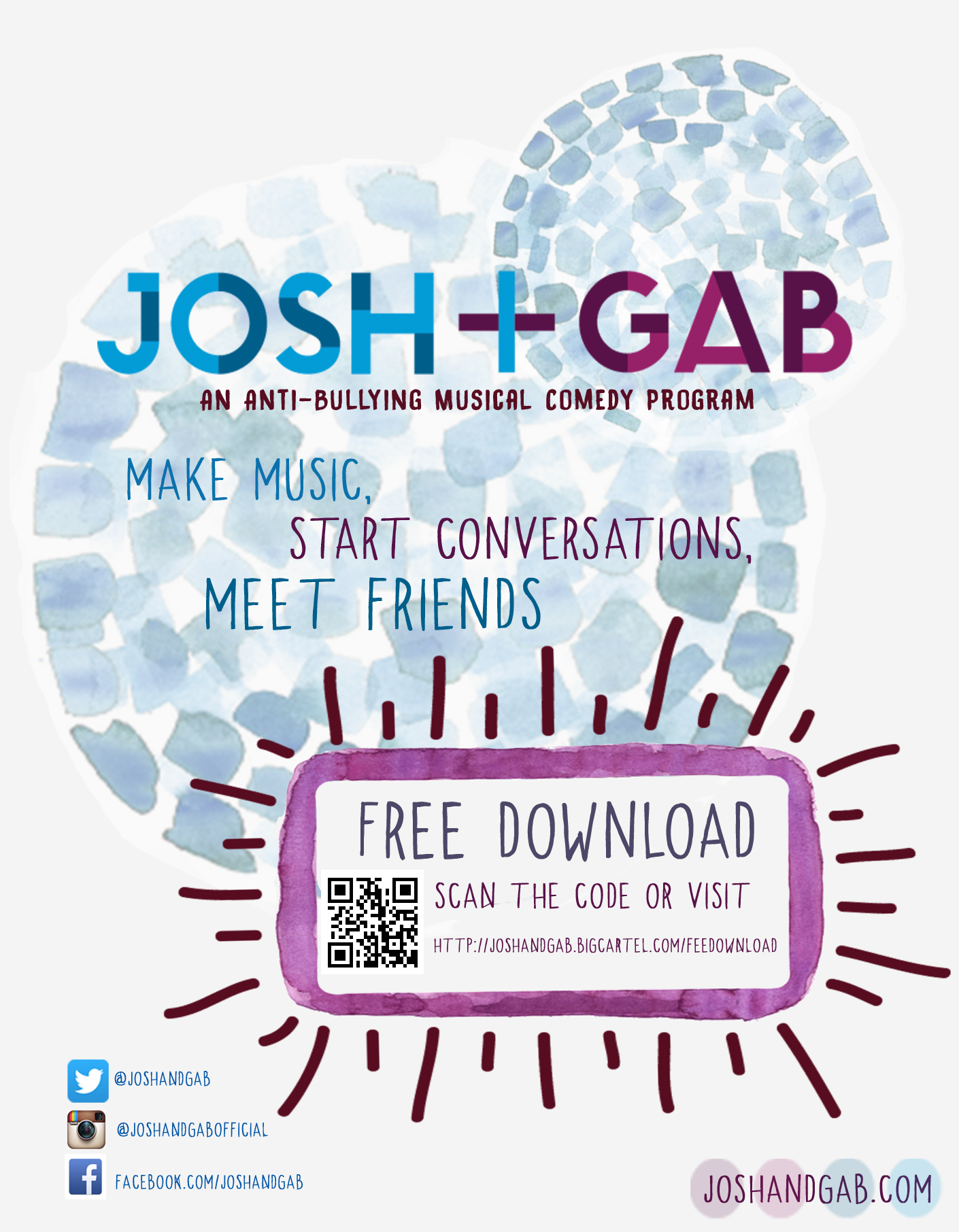 JOSH + GAB FREE DOWNLOAD CARD
