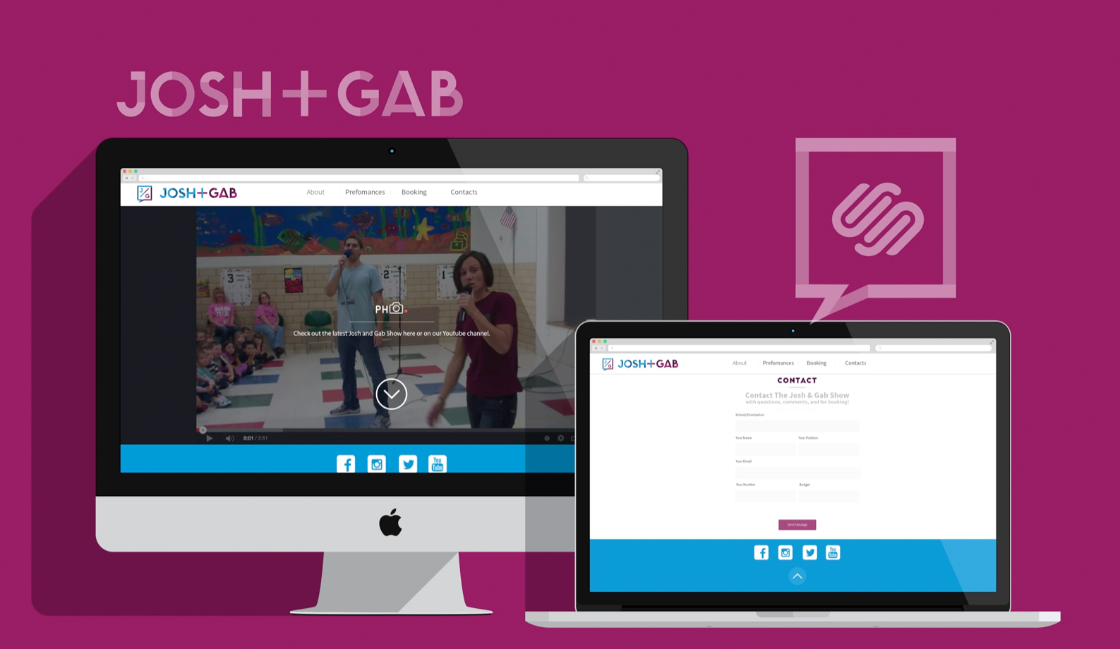 JOSH + GAB NEW WEBSITE