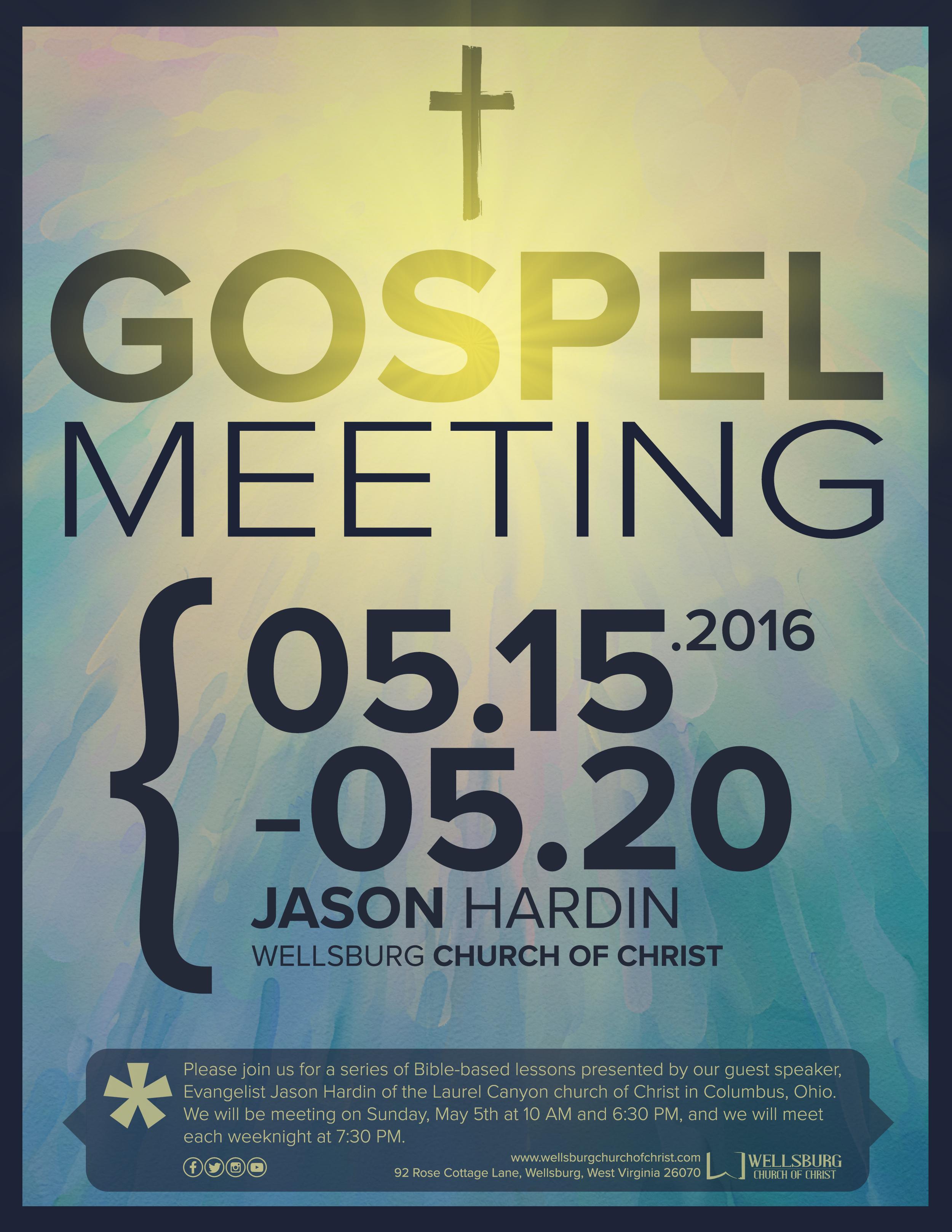 GOSPEL MEETING FLYER