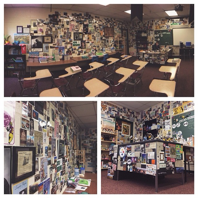 MY CLASSROOM FILLED WITH MEMORABILIA FROM MY LIFE AND TRAVELS. I UTILIZED MY CLASSROOM AS AN INTERACTIVE LEARNING TOOL