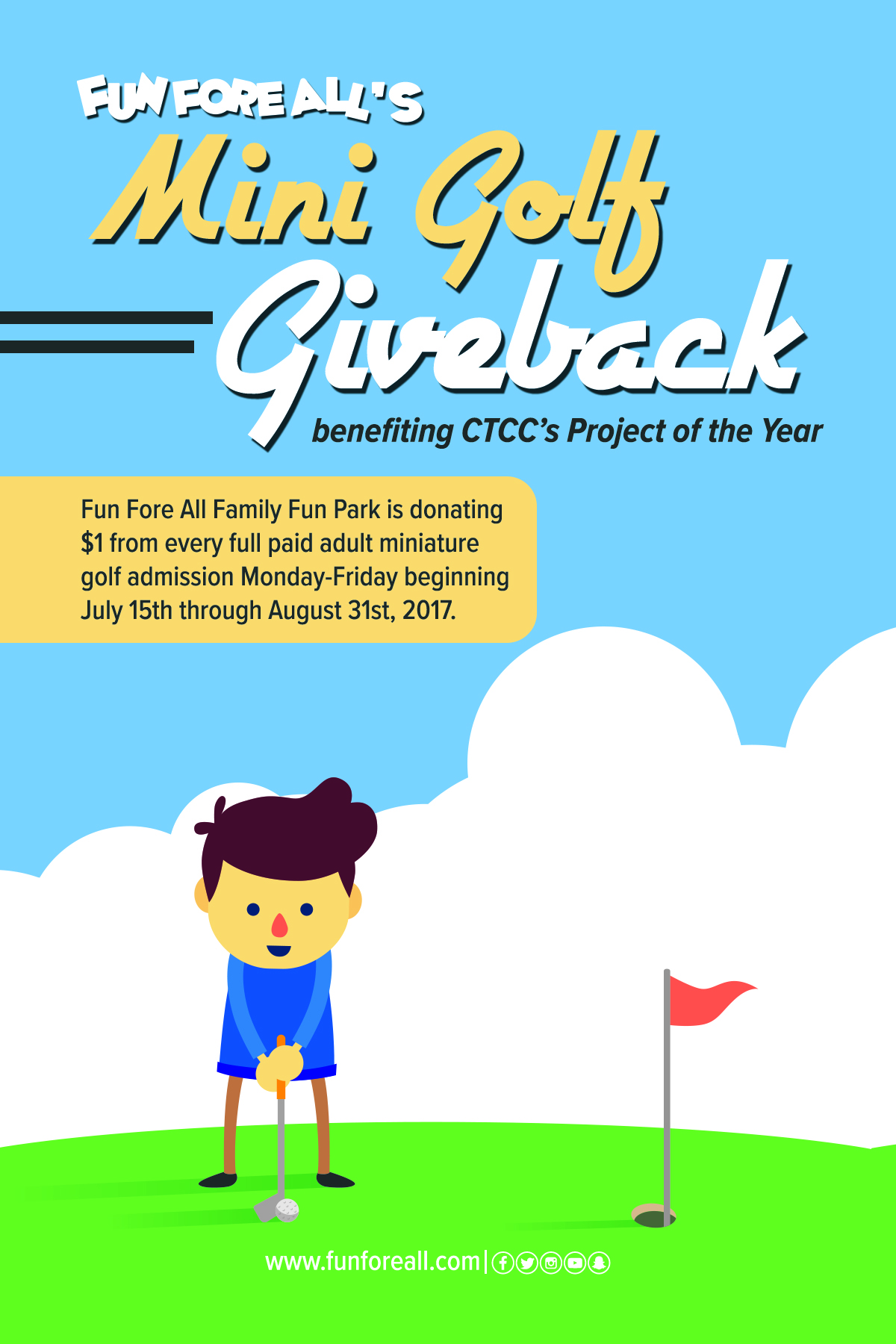 MINI GOLF GIVEBACK FLYER