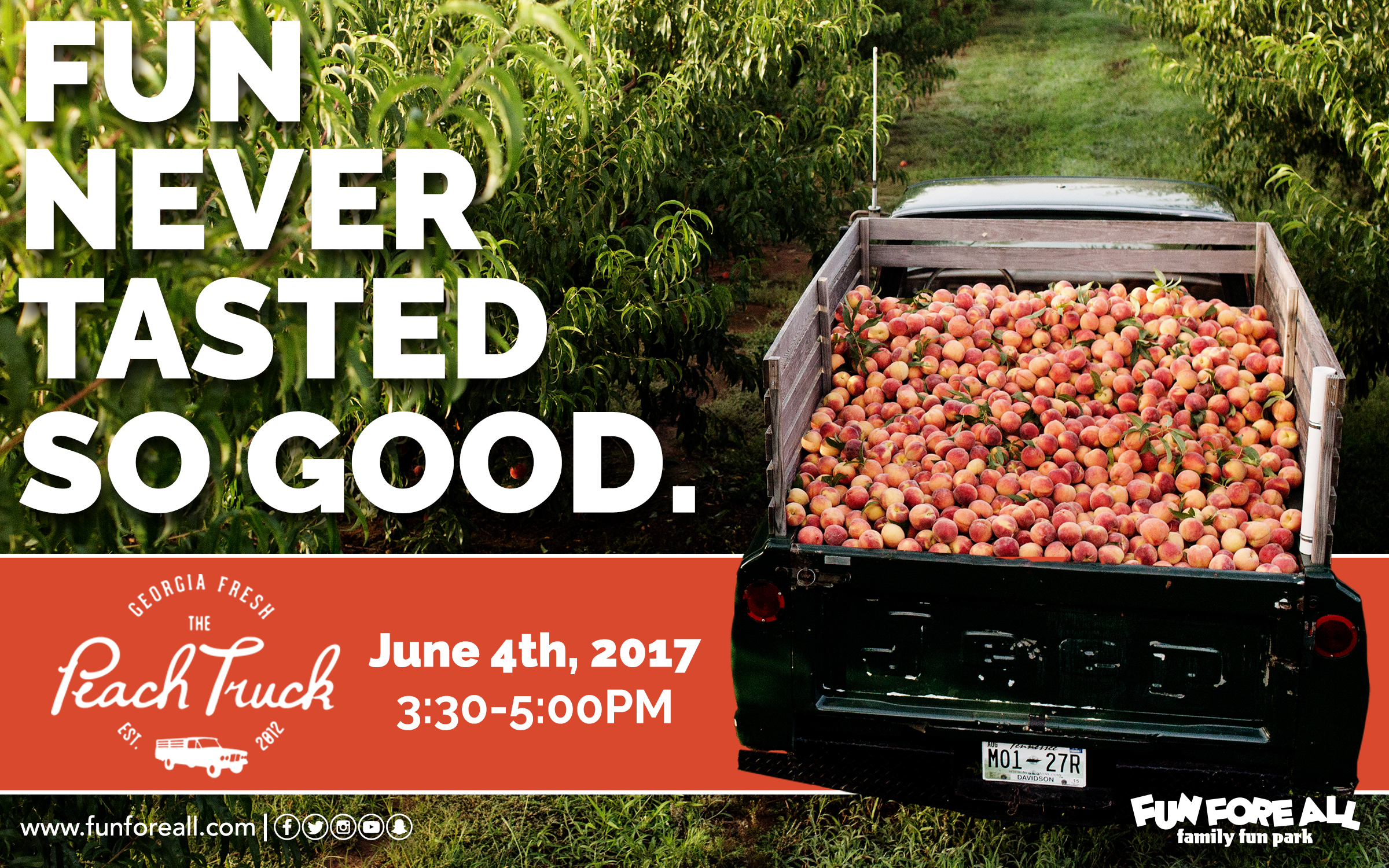 PEACH TRUCK EVENT FLYER